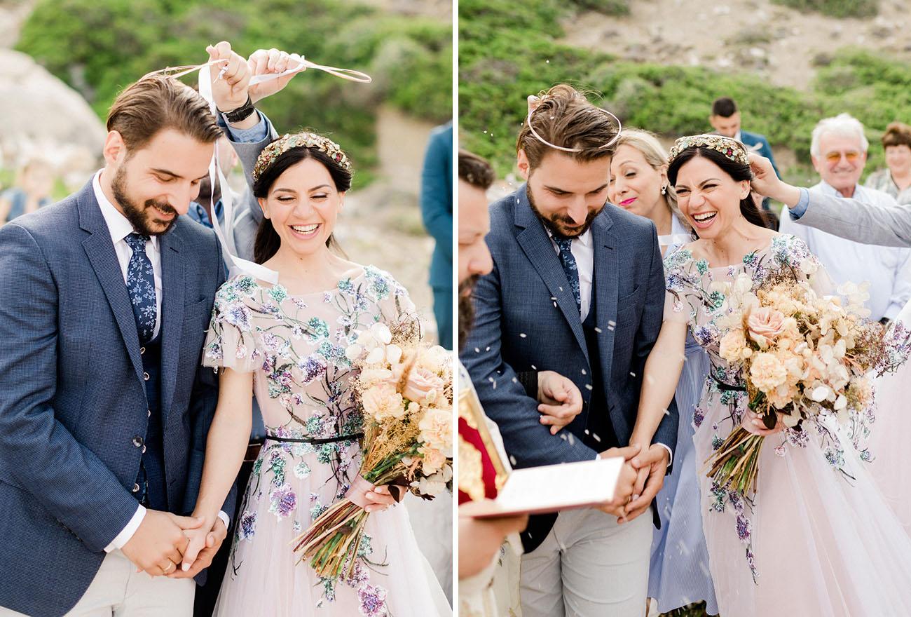 Colorful Greek Island Wedding