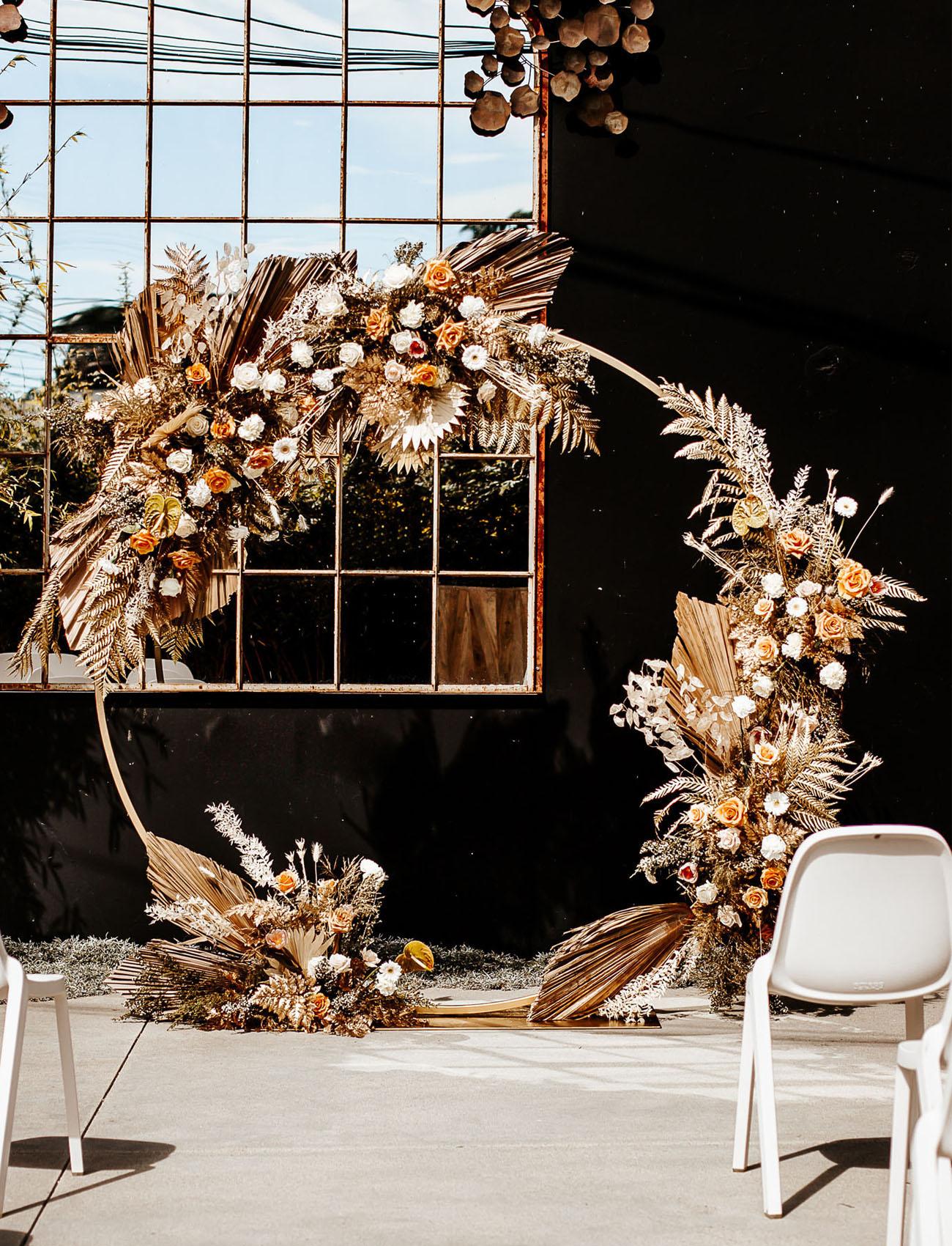 dried flower ceremony arch