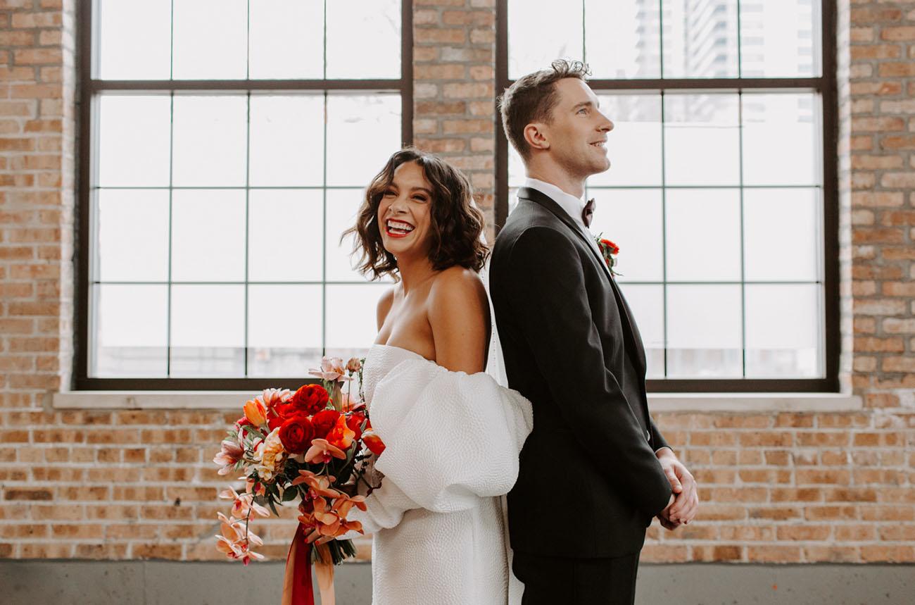 Mid-Century Meets 70's Glam Wedding Inspiration