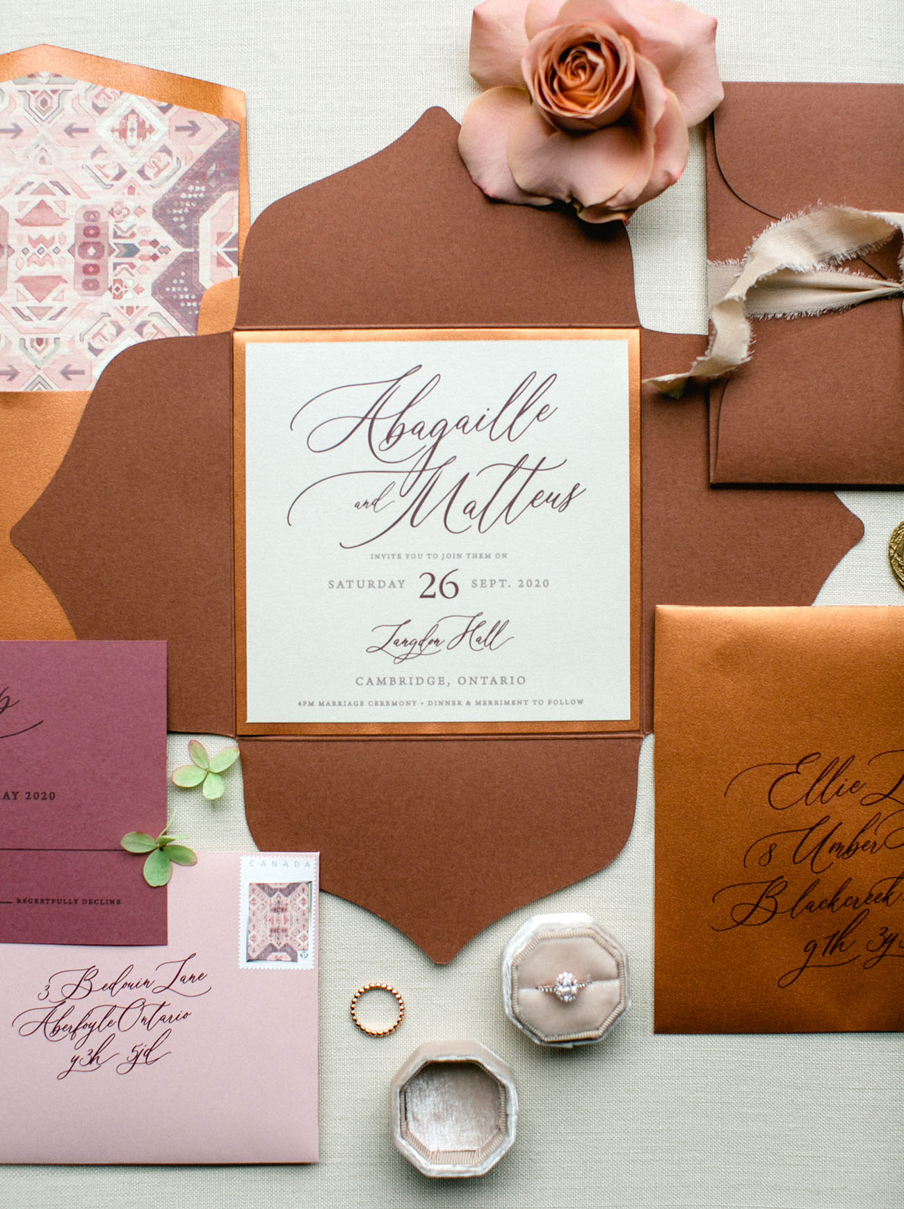 terra cotta inspired invitation