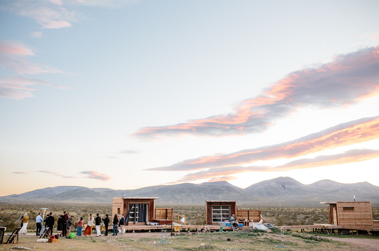 Intimate Festival Style Mojave Desert Wedding