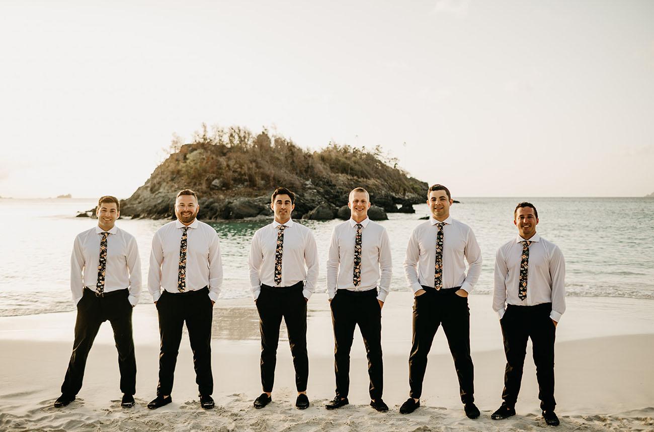 garçons d'honneur cravate floral