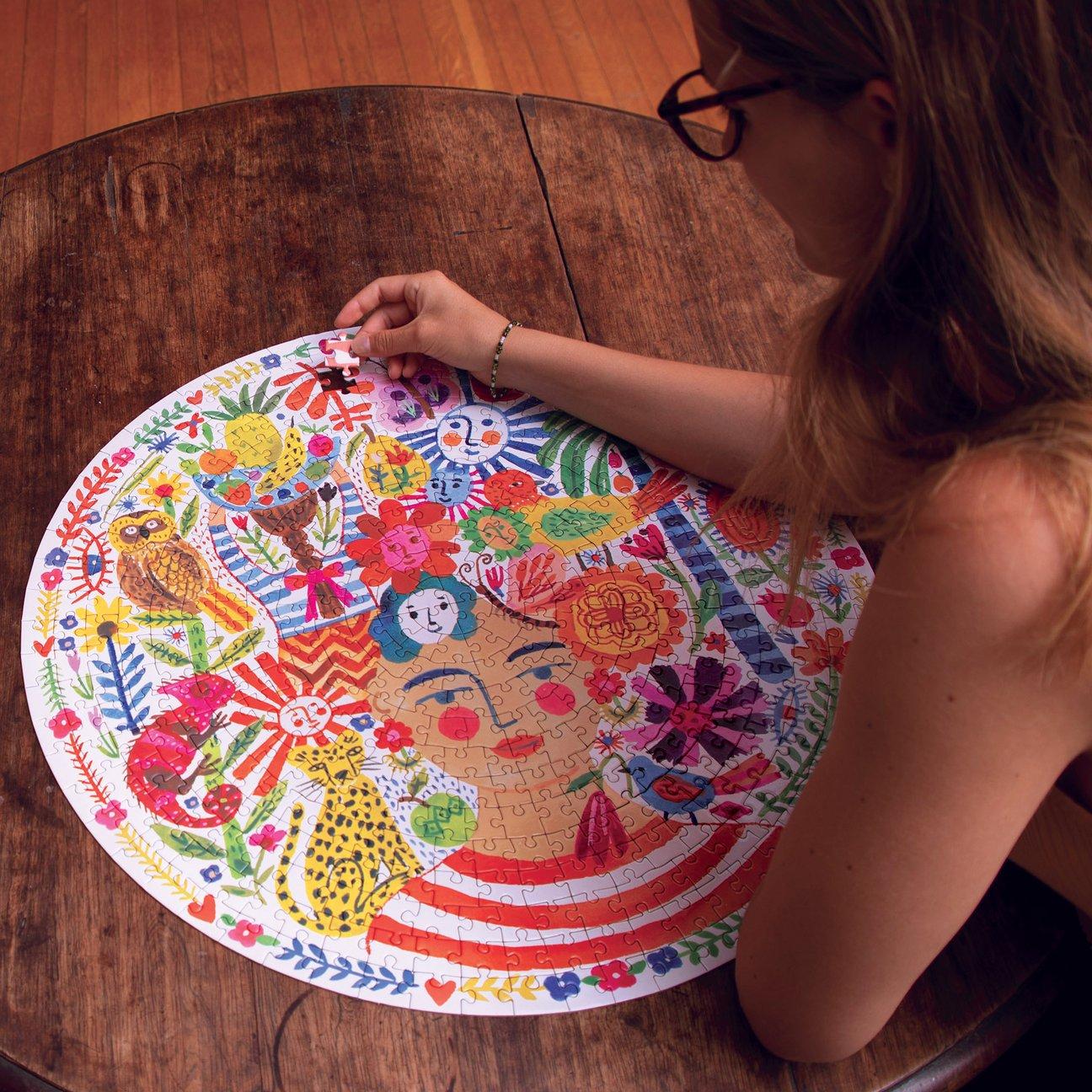 round puzzle by eeboo