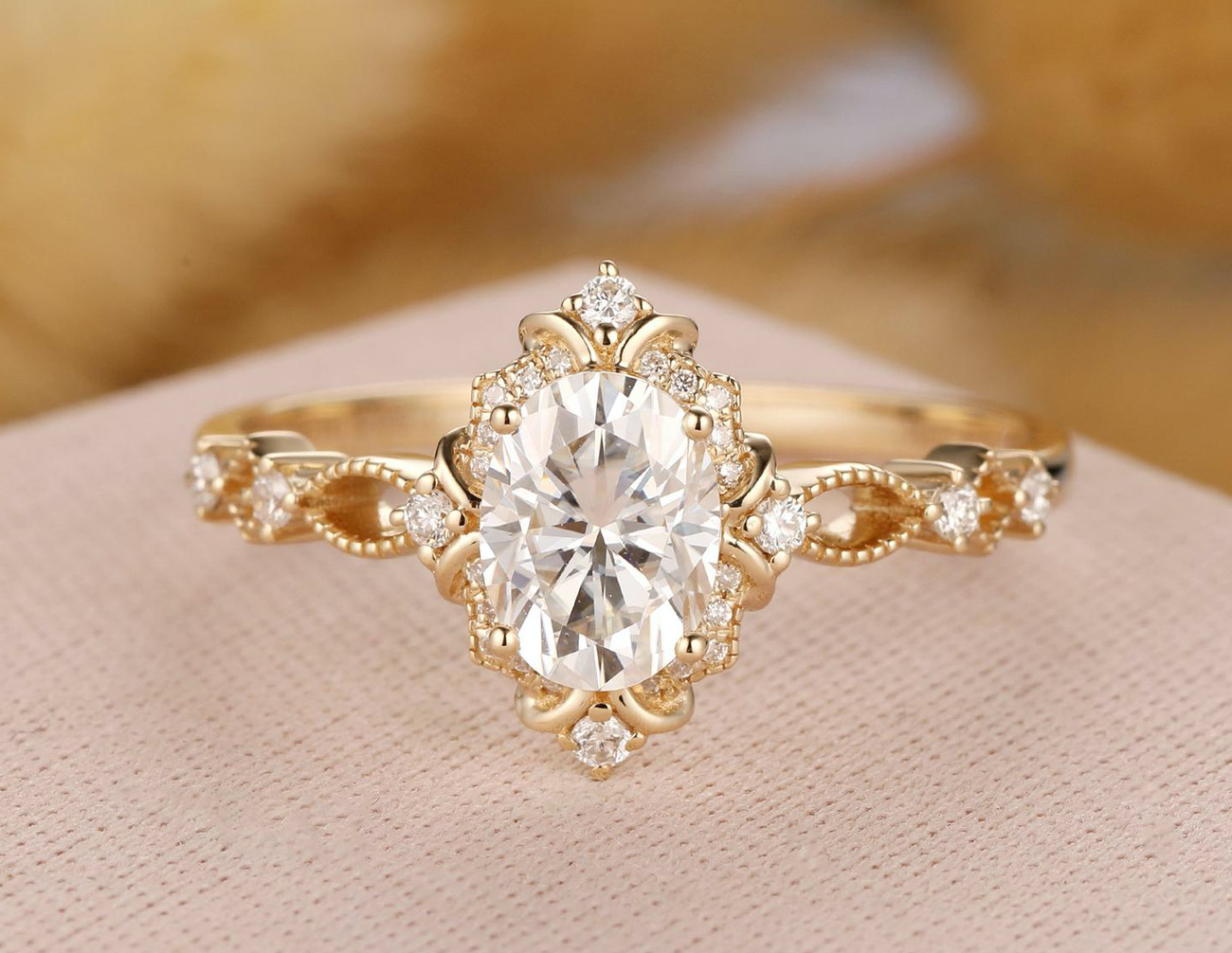 vintage engagement ring from Etsy