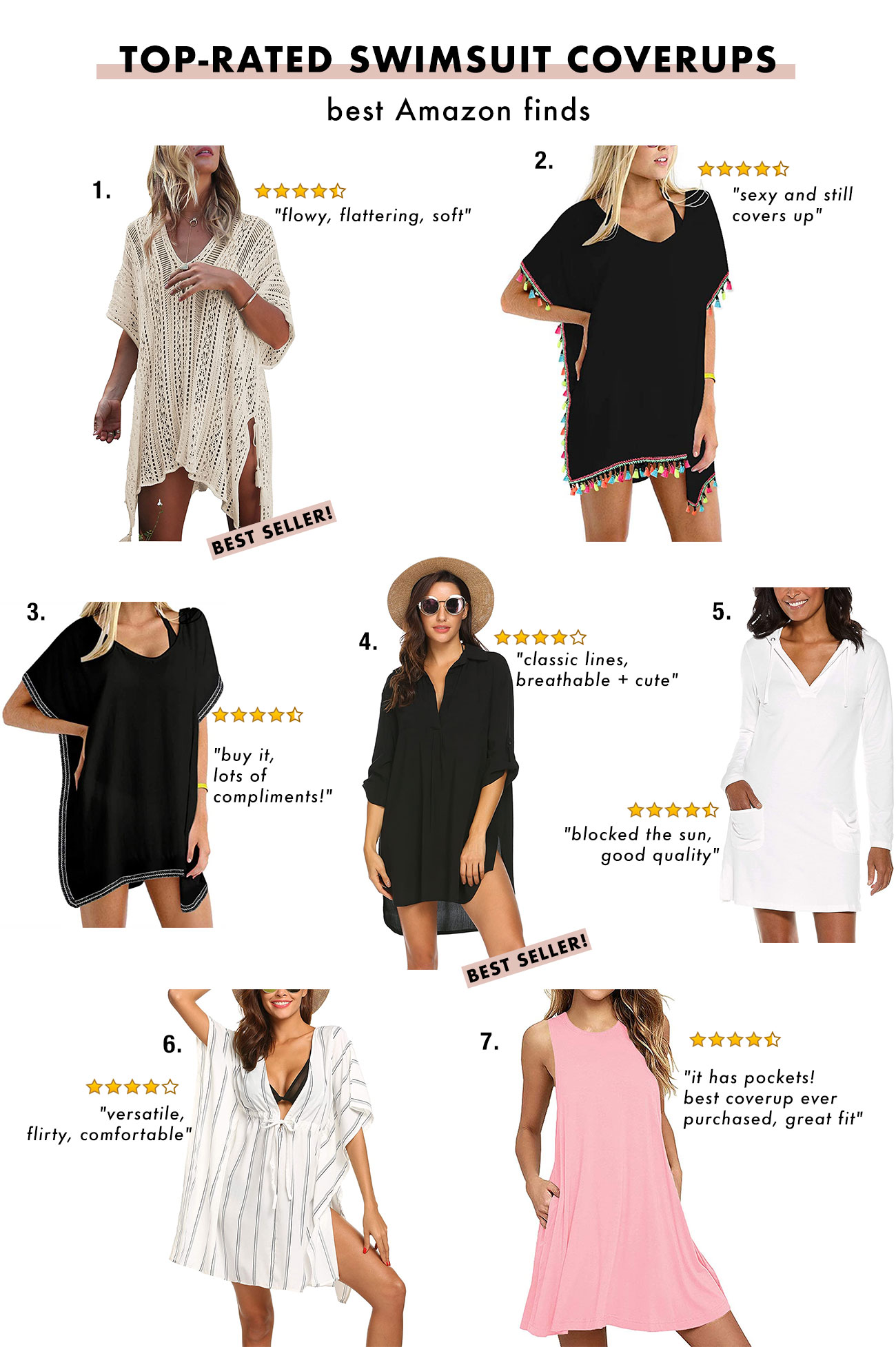 """Best swimsuit coverups at Amazon """"width ="""" 1300 """"height ="""" 1954 """"data-pin-title ="""" Best swimsuit coverups at Amazon """"data-pin-description ="""" We found the best rated swimsuit coverups at Amazon ! """"Srcset ="""" https://greenweddingshoes.com/wp-content/uploads/2020/07/Amazon-swimsuits-1.jpg 1300w, https://i0.wp.com/greenweddingshoes.com/wp-content/uploads / 2020/07 / Amazon swimsuits-1.jpg? Resize = 200.300 200w, https://i0.wp.com/greenweddingshoes.com/wp-content/uploads/2020/07/Amazon-swimsuits-1.jpg?resize=681, 1024 681w, https: // i0. wp.com/greenweddingshoes.com/wp-content/uploads/2020/07/Amazon-swimsuits-1.jpg?resize=768,1154 768w, https: //i0.wp .com / greenweddingshoes.com / wp-content / uploads / 2020/07 / Amazon swimsuits-1.jpg? resize = 337.506 337w, https://i0.wp.com/greenweddingshoes.com/wp-content/uploads/ 2020/07 / Amazon-Badeanzüge-1.jpg? Resize = 800.1202 800w, https://i0.wp.com/greenweddingshoes.com/wp-content/uploads/2020/07/Amazon-swimsuits-1.jpg? resize = 400,601 400w, https://i0.wp.com/greenweddingshoes.com/wp-content /uploads/2020/07/Amazon-swimsuits-1.jpg?resize=1022,1536 1022w, https: // i0. wp.com/greenweddingshoes.com/wp-content/uploads/2020/07/Amazon-swimsuits- 1.jpg? Resize = 300,451 300w """"sizes ="""" (maximum width: 1300px) 100vw, 1300px """"/> 1st boho swimsuit cover up $ 19.99 // 2nd chiffon tassel swimsuit cover up $ 19.99 - $ 22.99 // 3rd chiffon fringe cover up $ 22.09 / / 4th Shirt Cover Up $ 17.99 - $ 25.99 // 5th Beach Cover Up Dress - Sunscreen $ 79.00 // 6. Oversized Striped Cover Up $ 19.99 - $ 26.99 // 7. Swing Dress Beach Cover Up $ 25.99 - $ 33.99</p> <p style="""