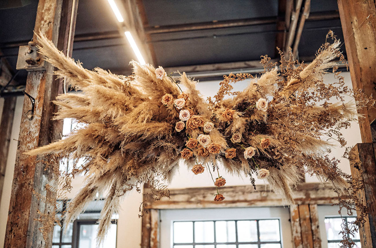 dried pampas grass hanging install