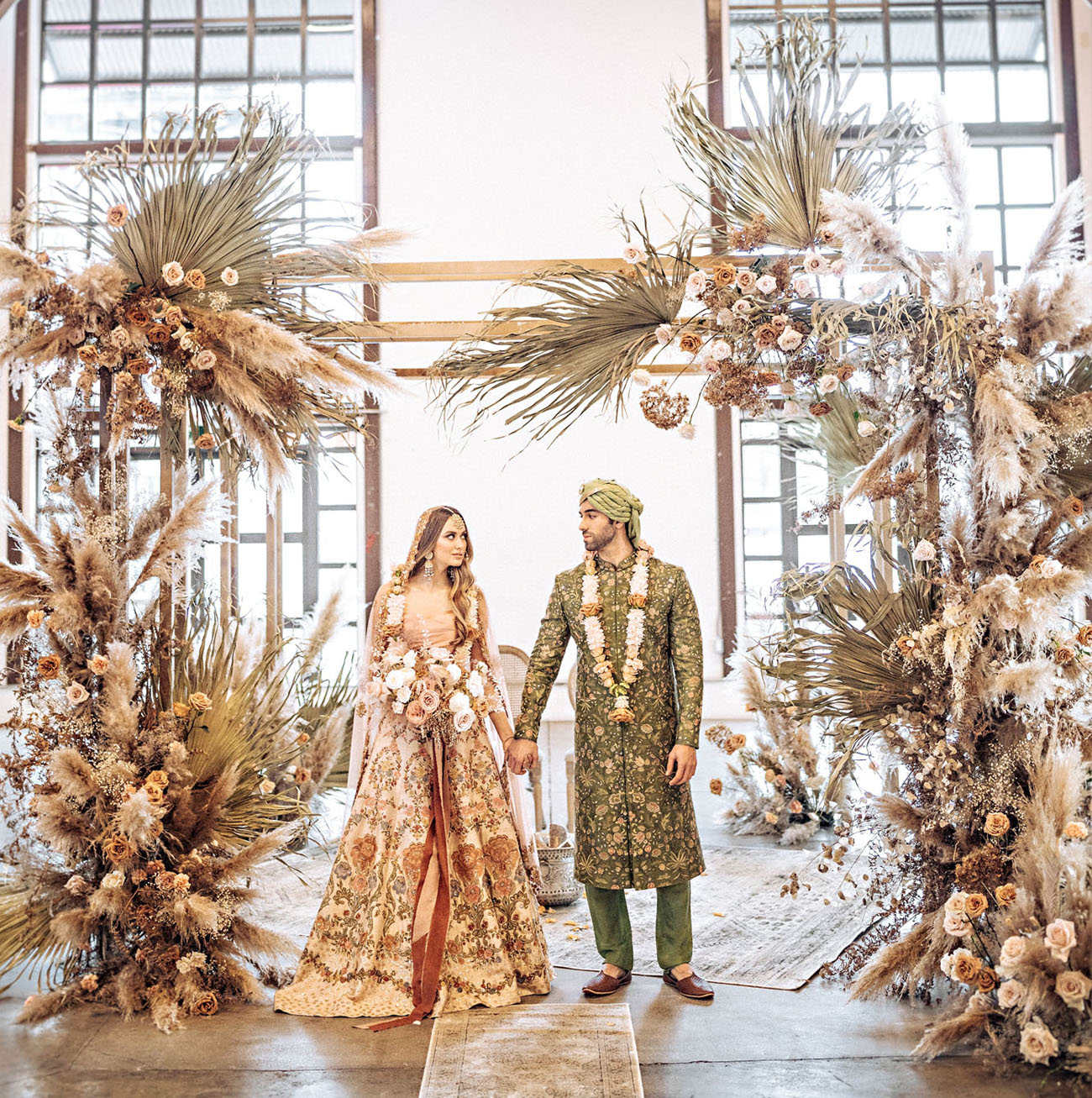 Bohemian Chic Indian Wedding