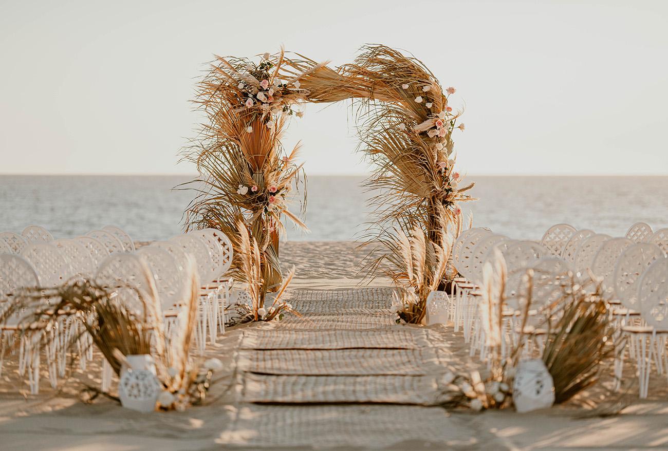dried palm ceremony decor