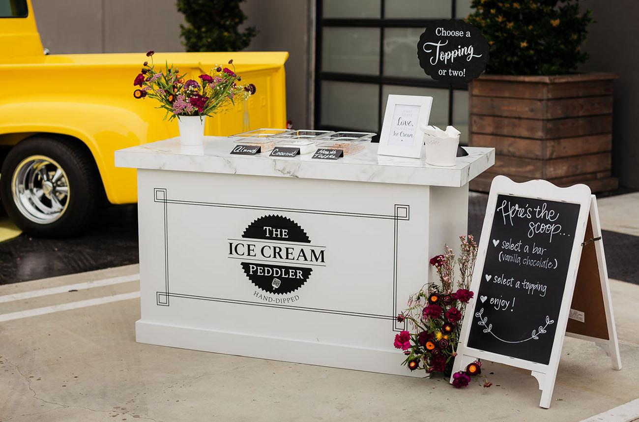 ice cream bar cart