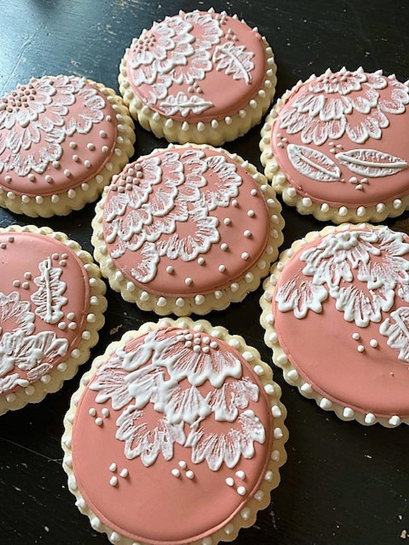 lace wedding cookies