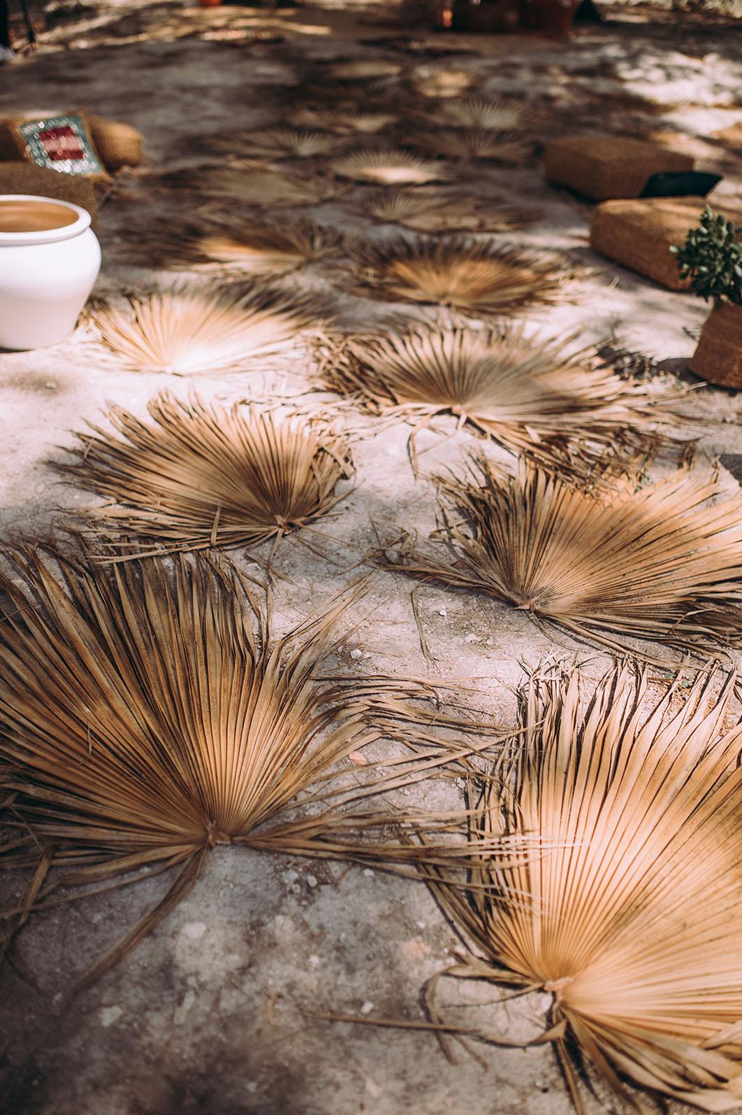 dried palm aisle