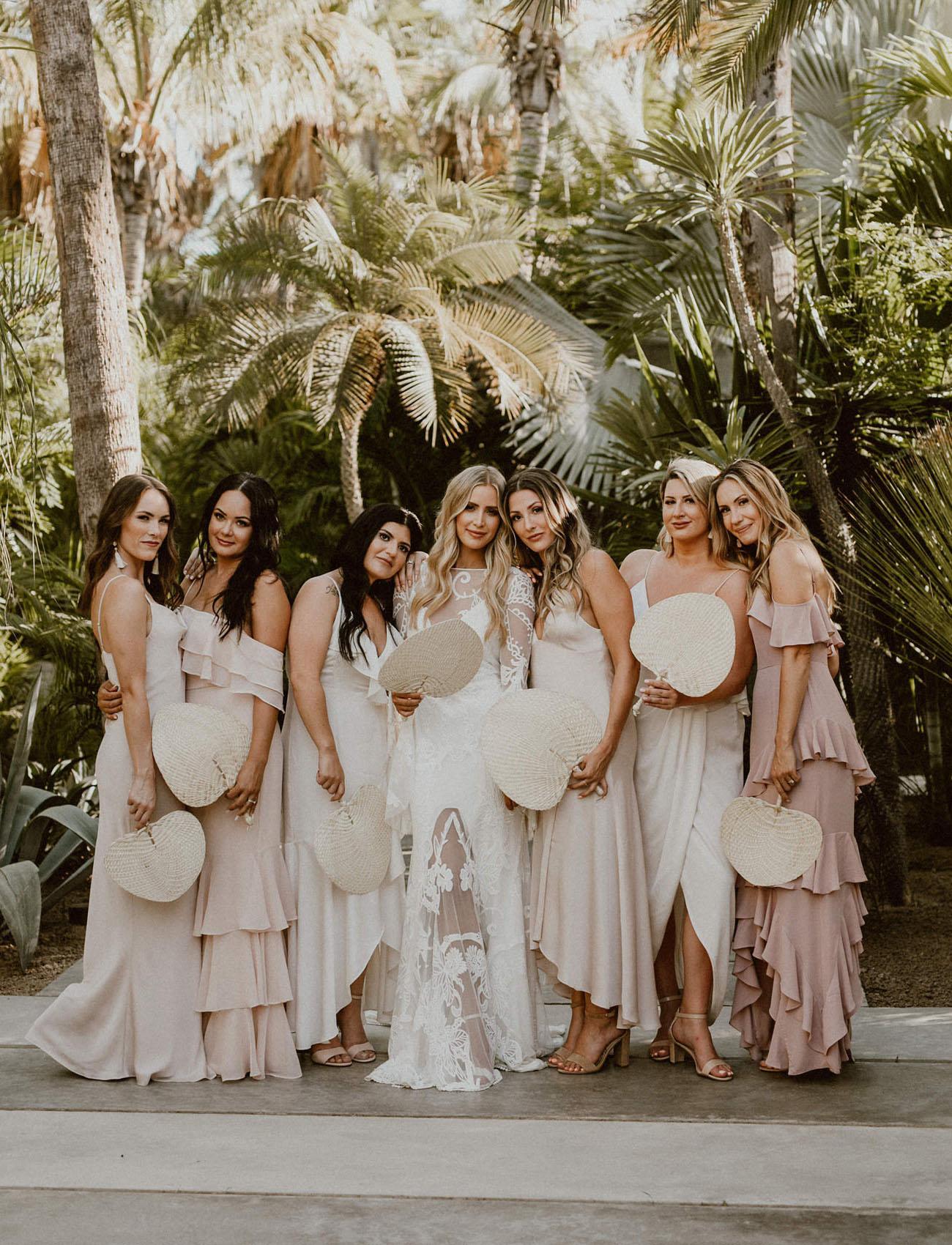 blush bridesmaids dresses