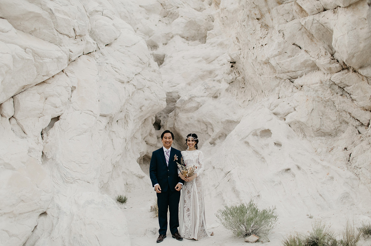 Boho Princess Jasmine Inspired Elopement in the Ojito Wilderness