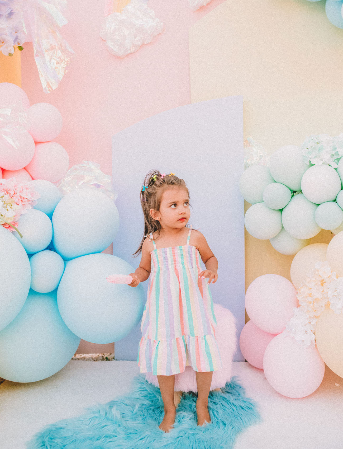 Pastel Rainbow Drive By Birthday Party