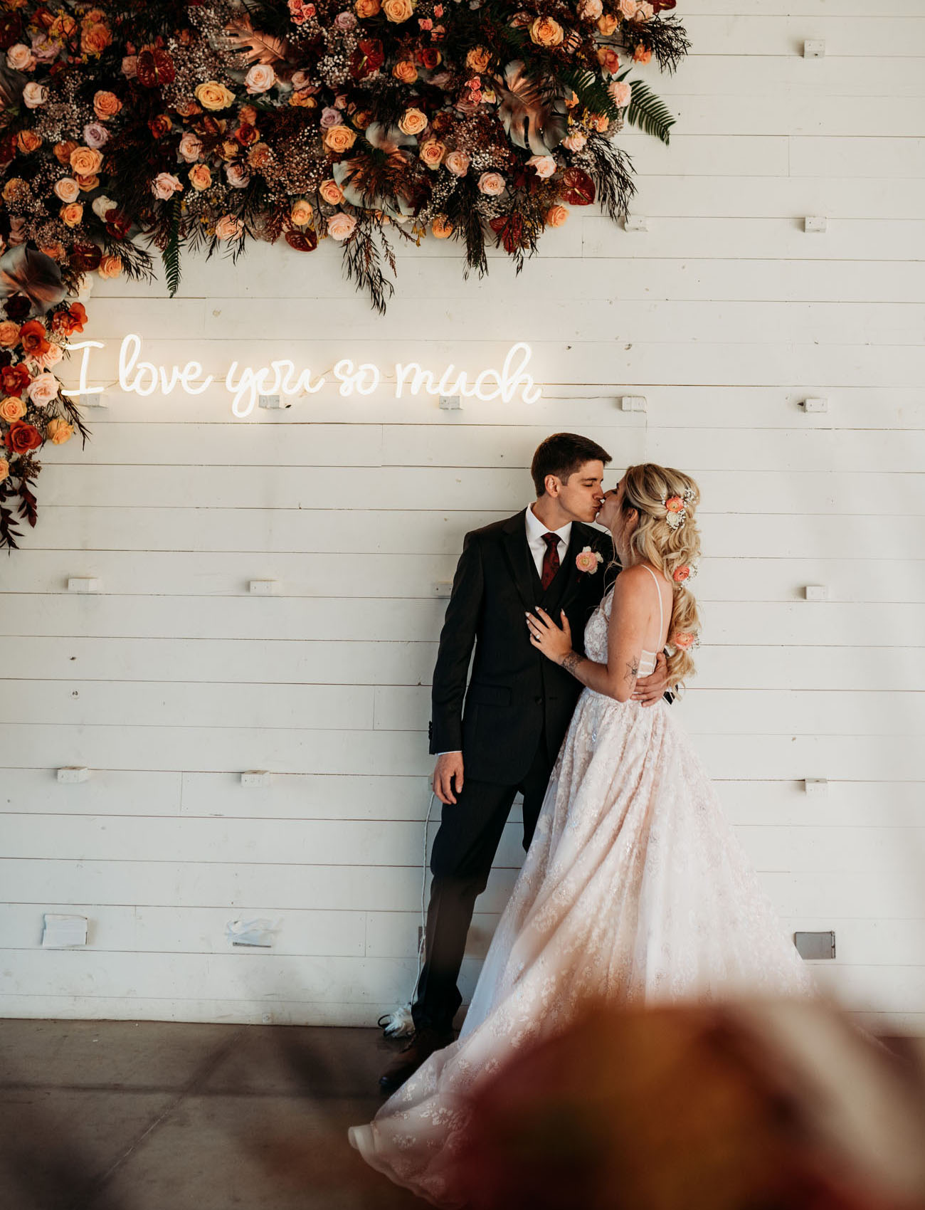neon wedding signage