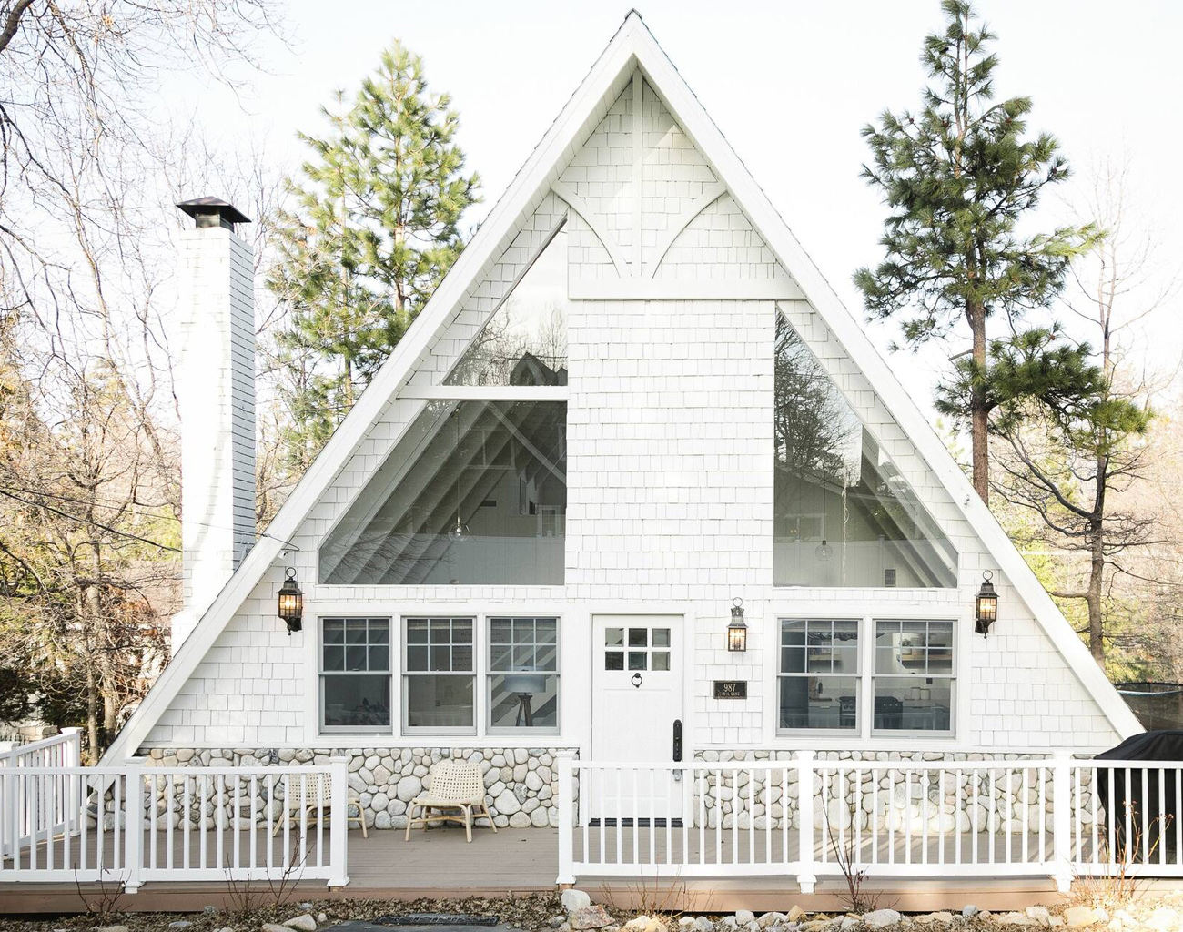Cabine Boho moderne à Lake Arrowhead