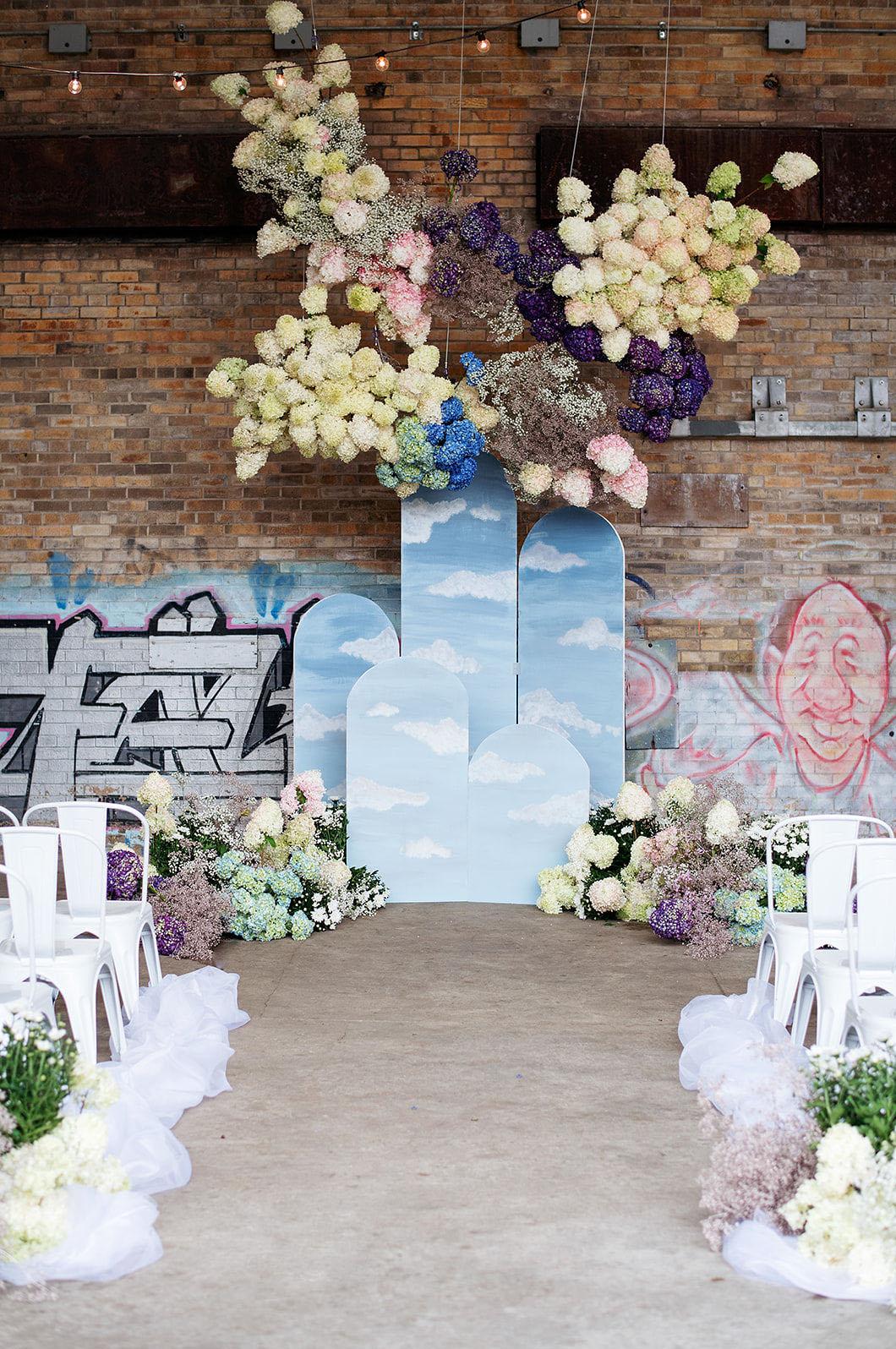 cloud wedding decor