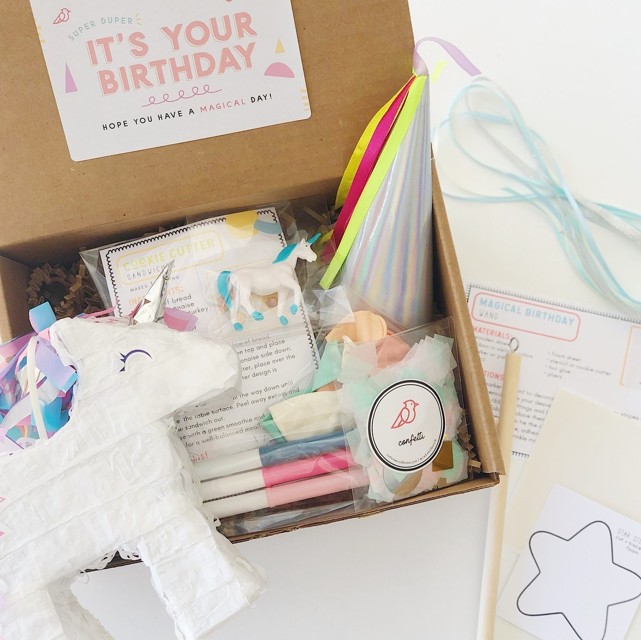 Unicorn Birthday Box for Kids