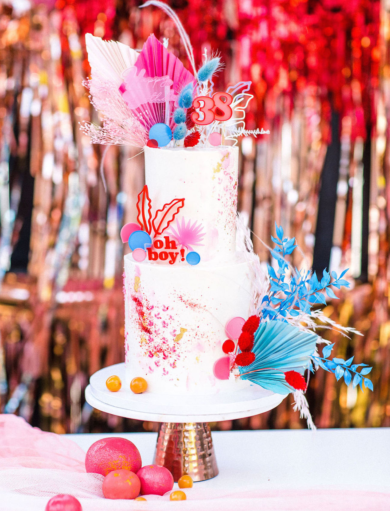 modern and colorful cake
