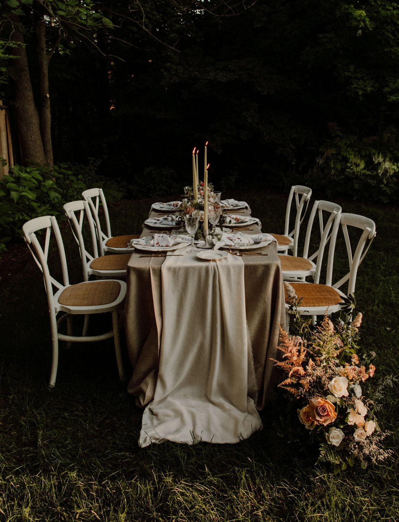 Intimate Backyard Elopement Inspiration