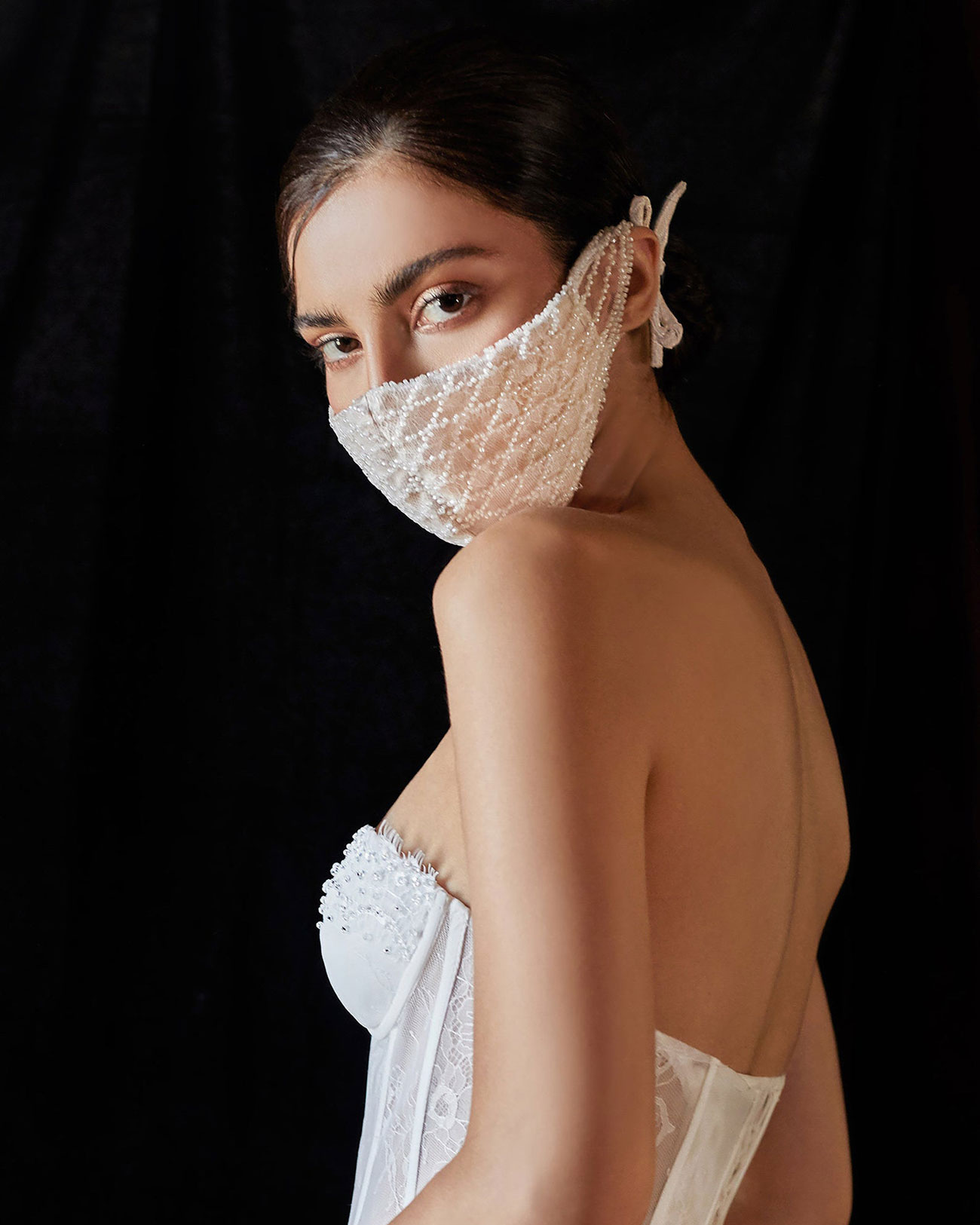 beaded chain face mask