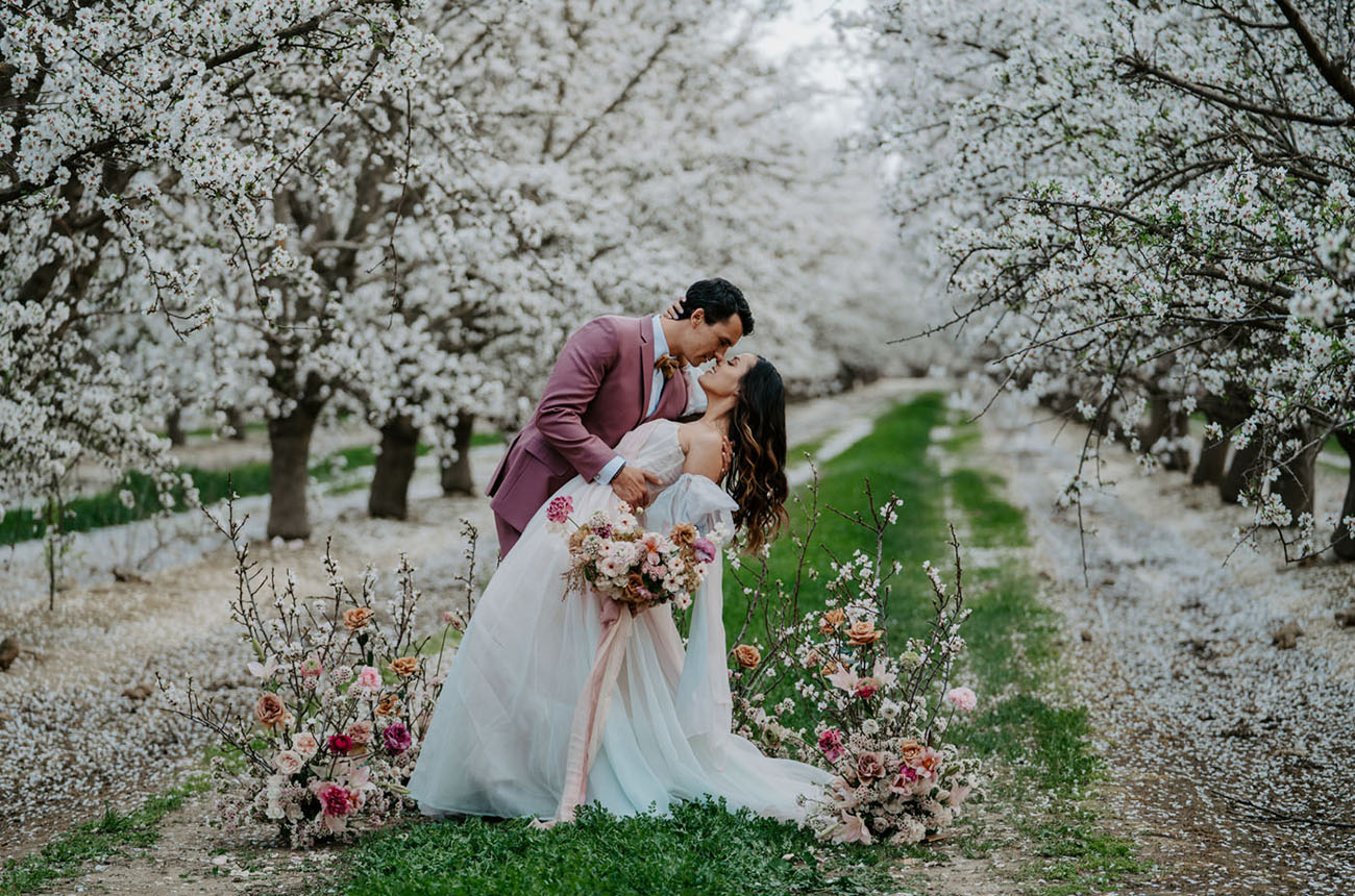 micro wedding ideas - Cherry Blossom Wedding Inspiration