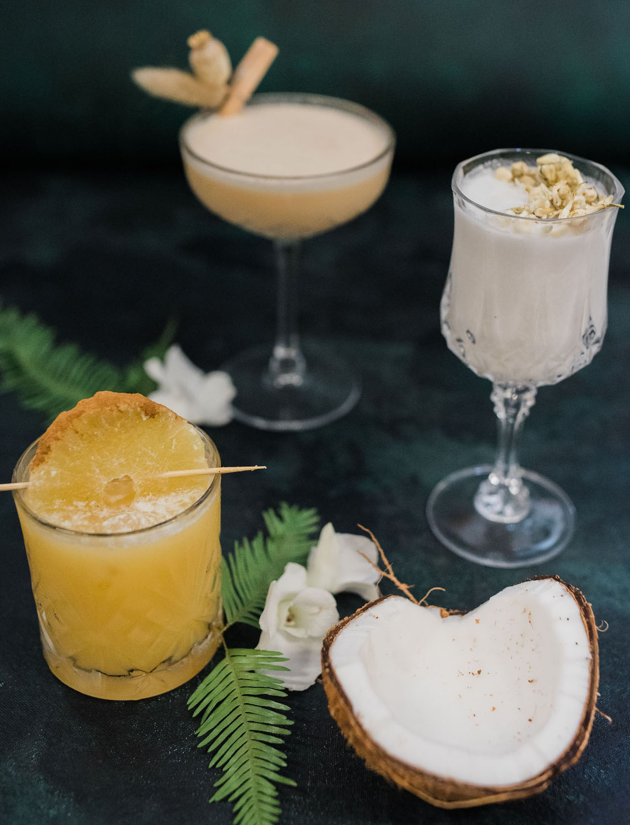 coconut inspired cocktails