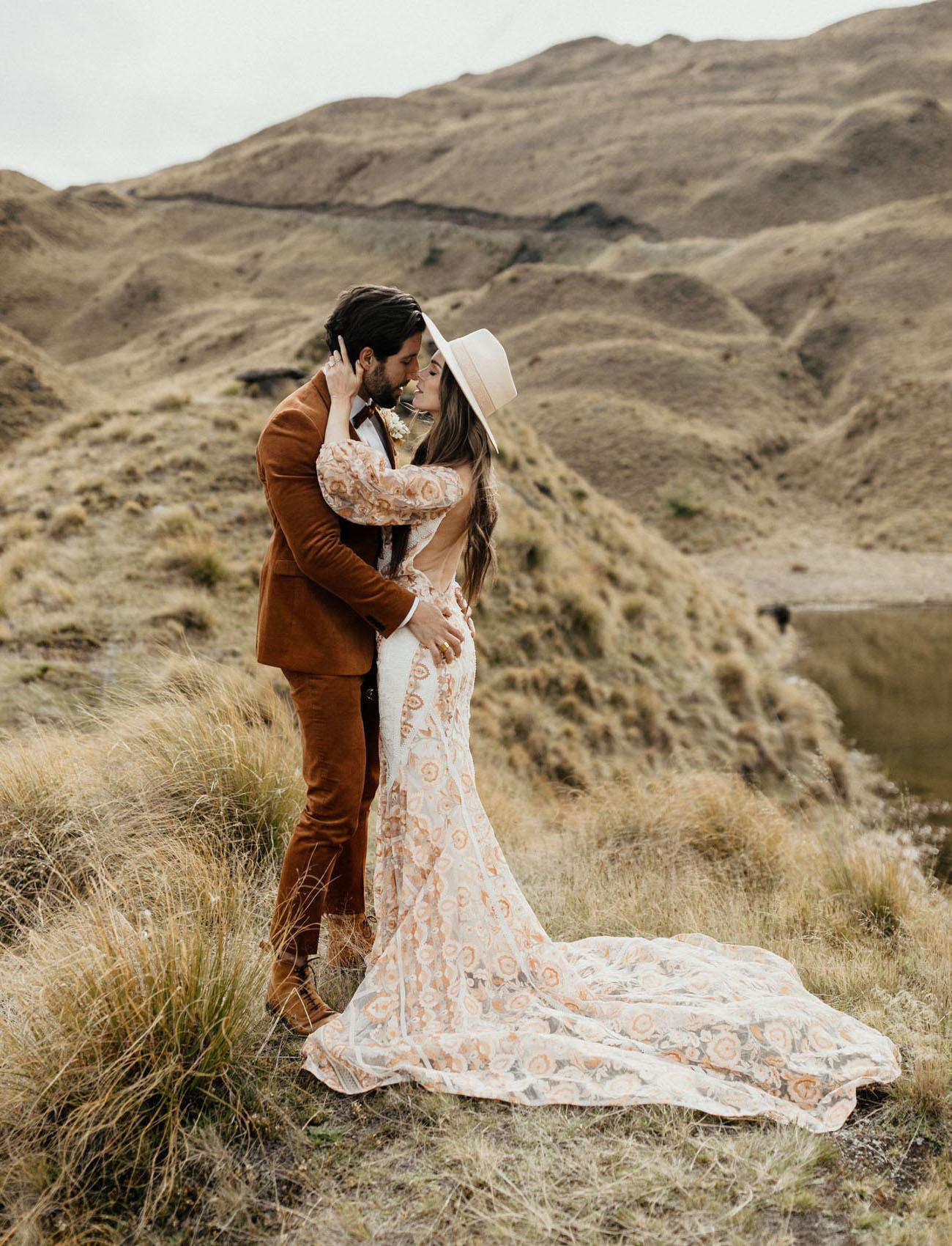 New Zealand Boho Vow Renewal