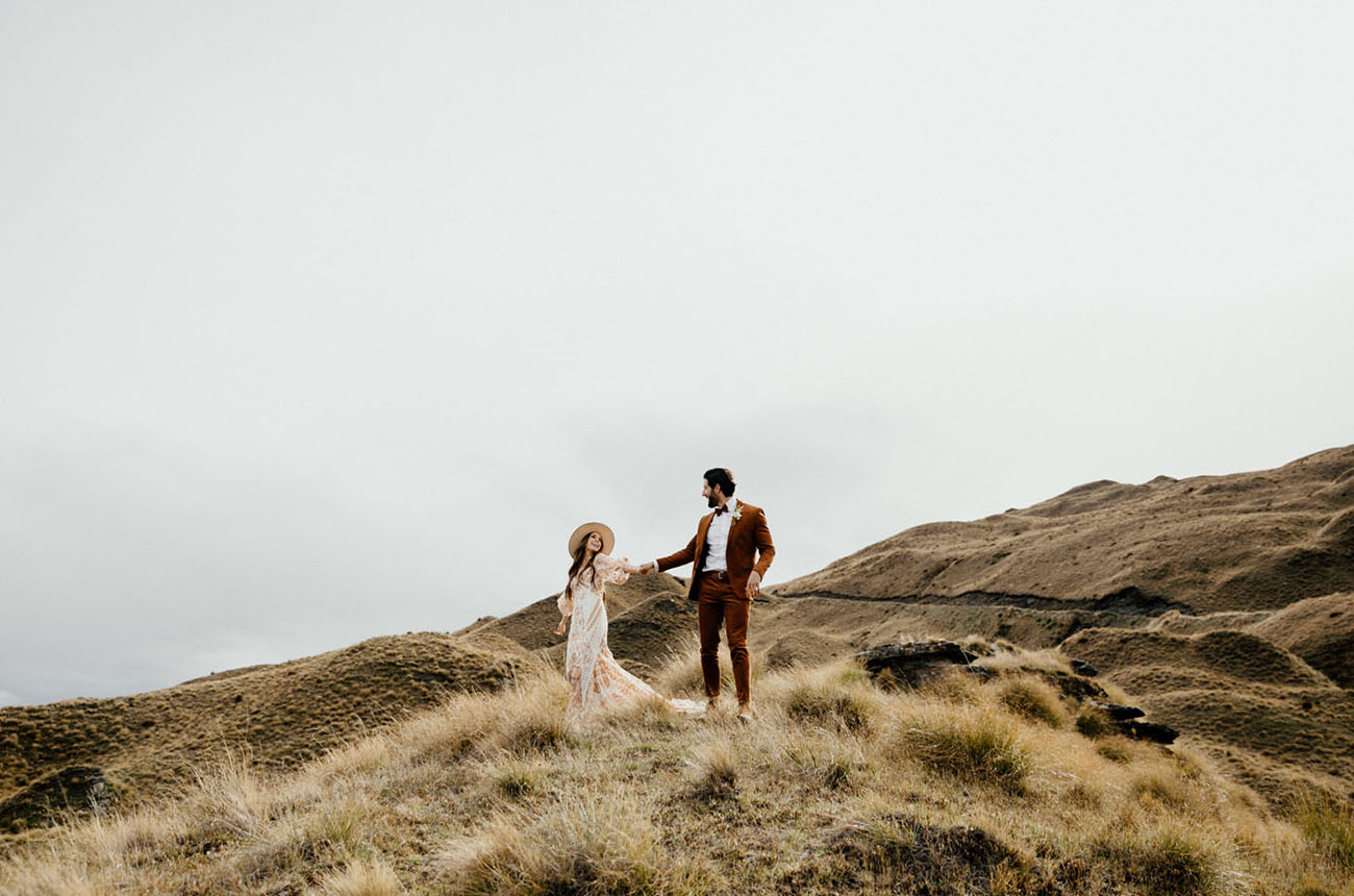 New Zealand Boho Vow Renewal