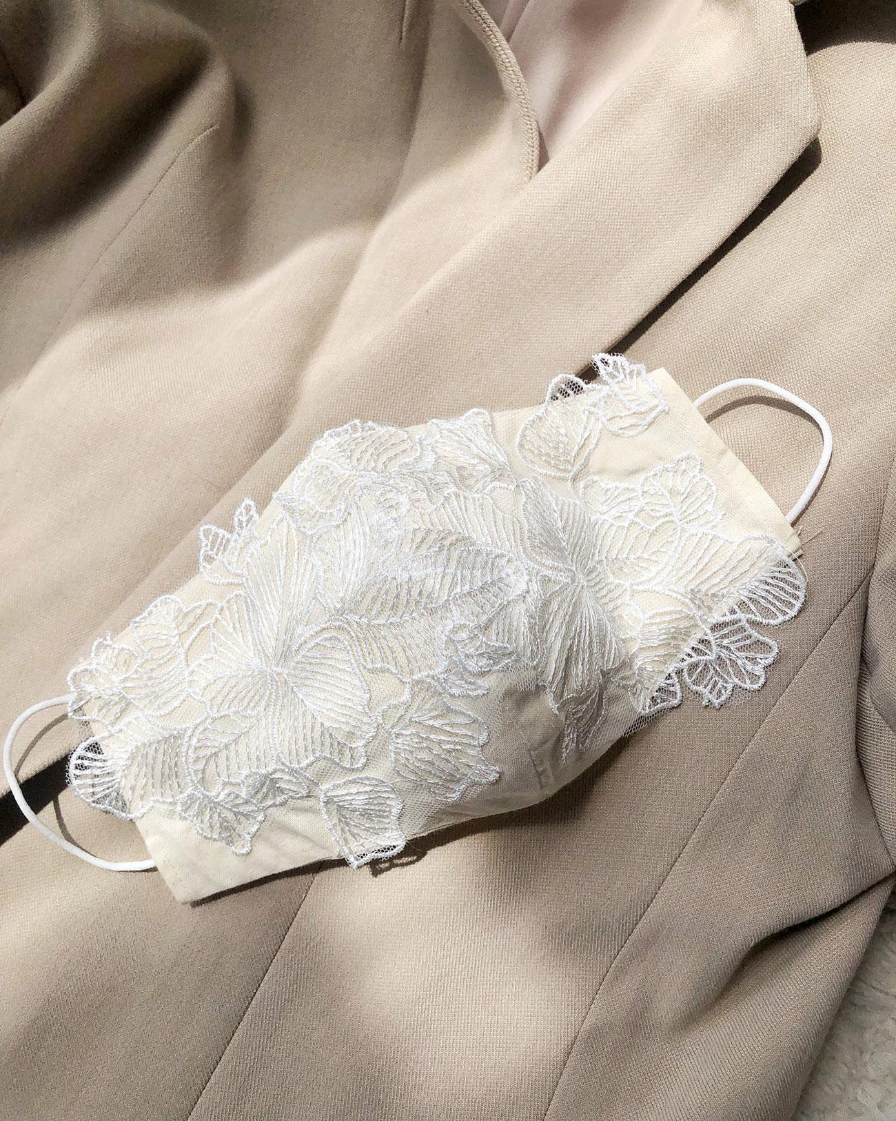 floral lace face mask