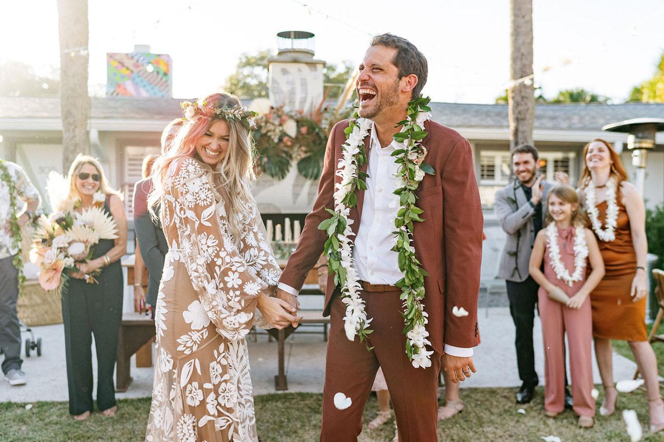 Surprise Boho Florida Wedding