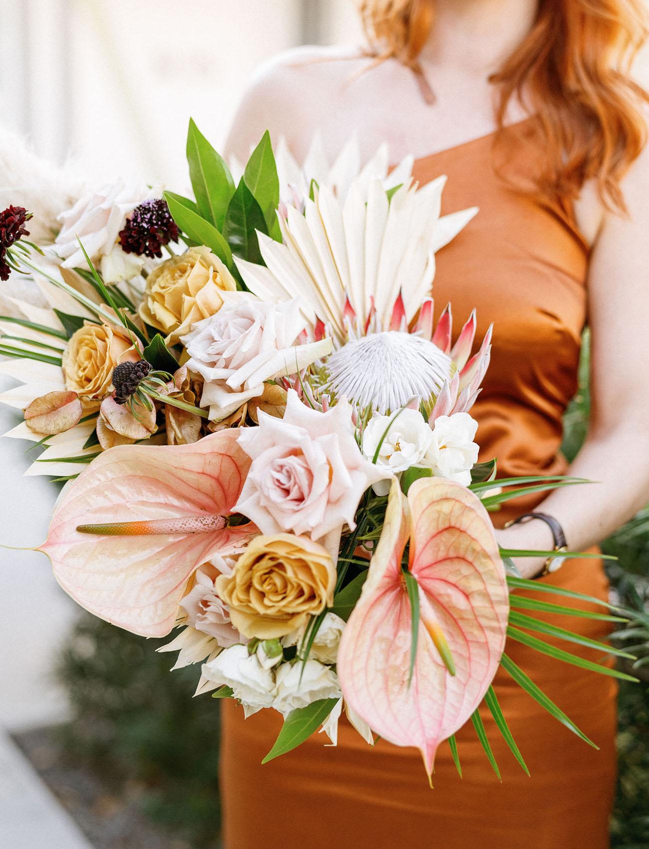 tropical anthurium bouquet