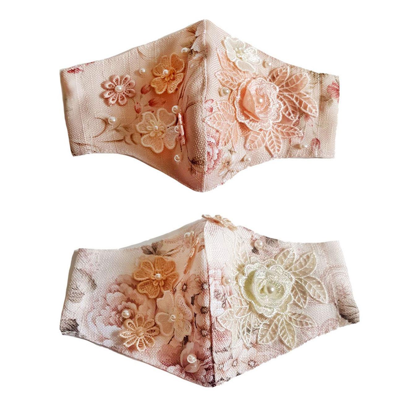 pink embellished masks