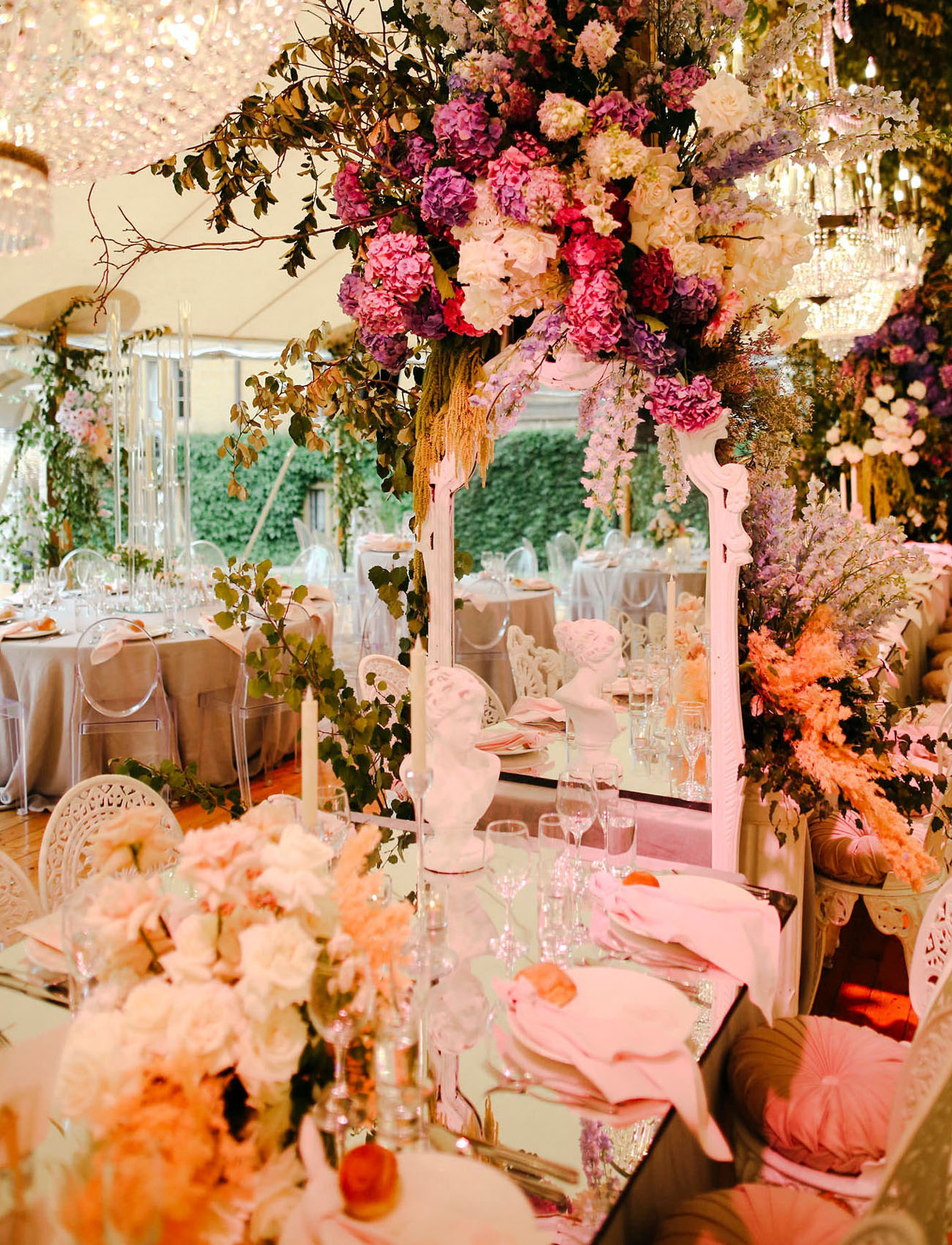 mirror wedding decor