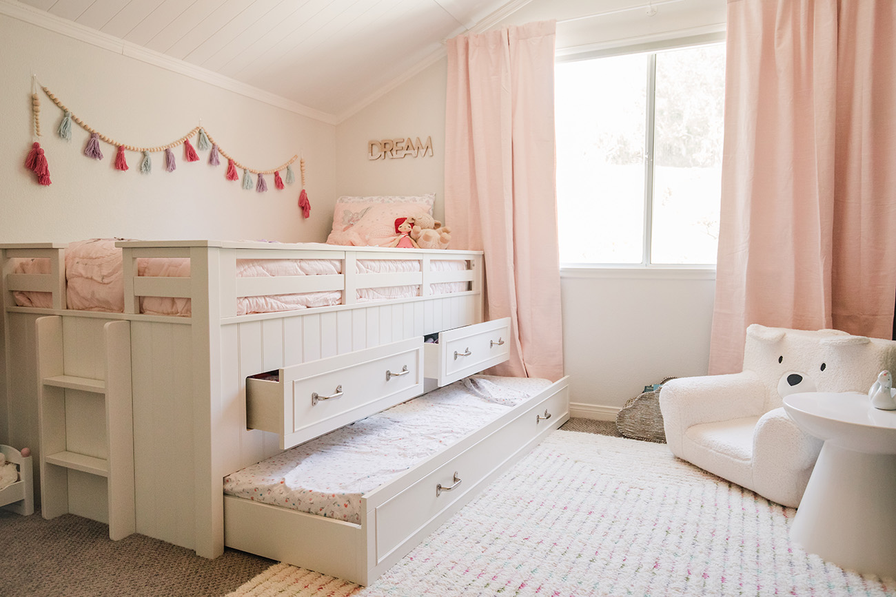 Pottery Barn Kids Girls Bedroom with Captain Bed