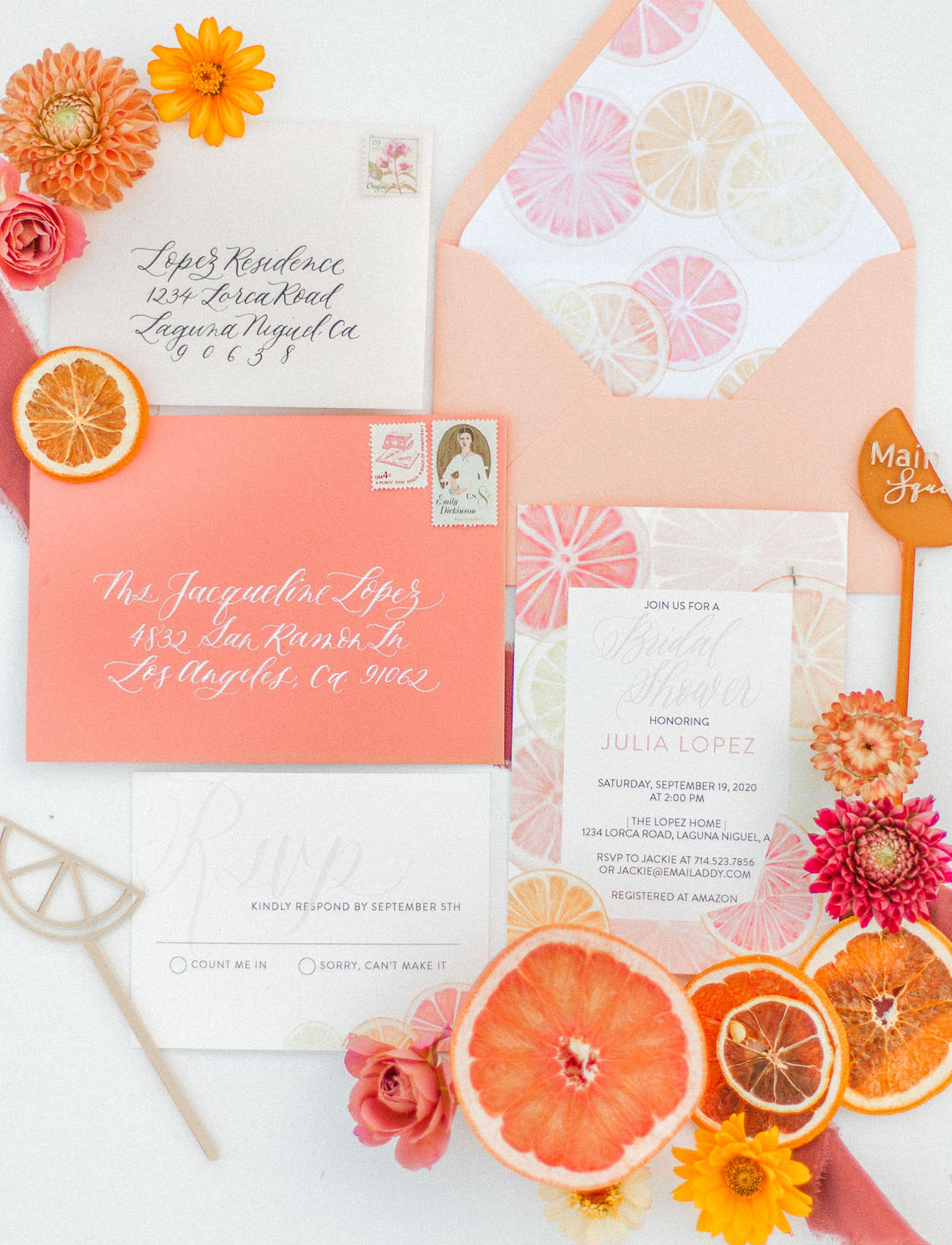 fruit invitation suite