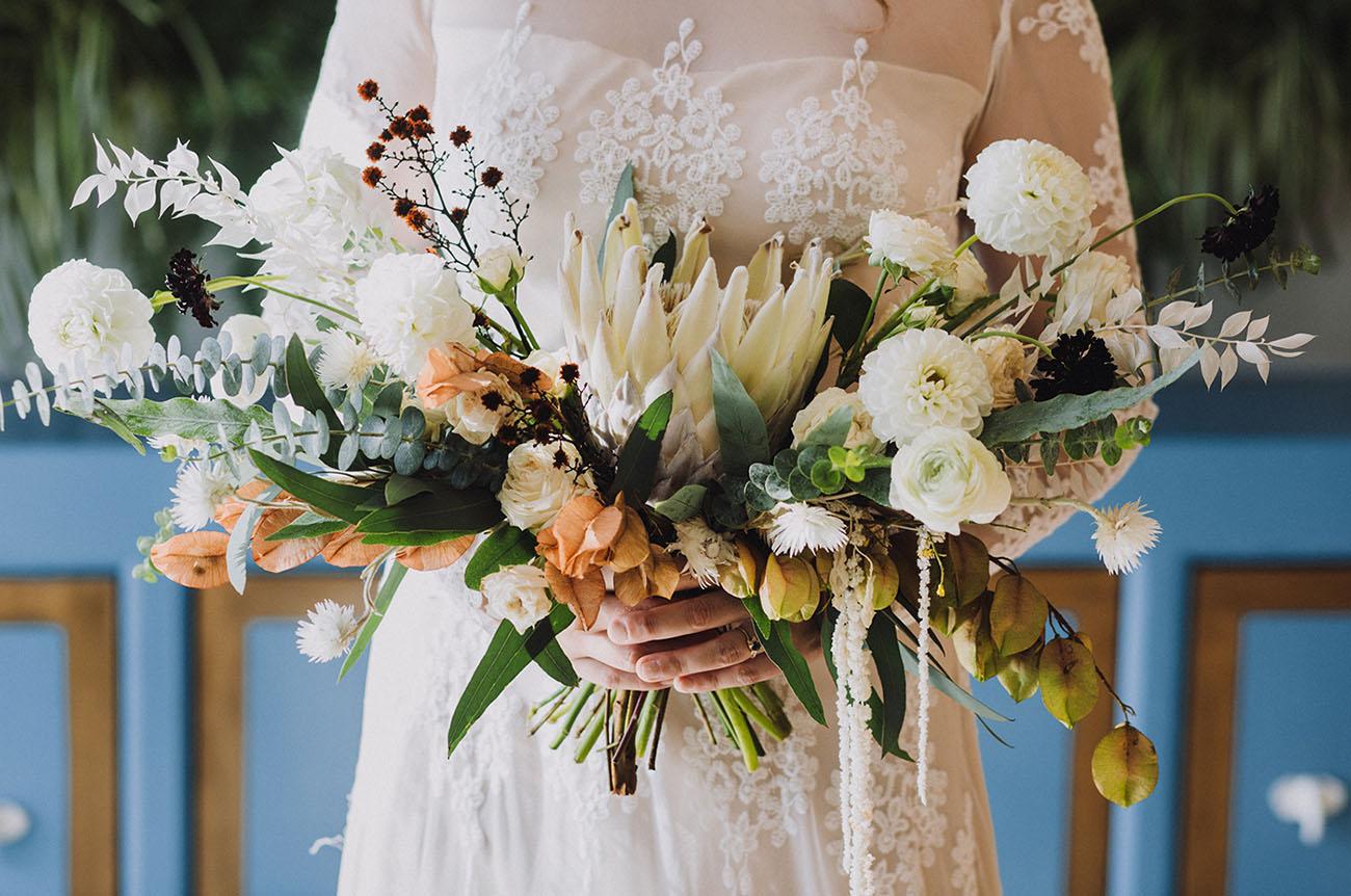 organic protea bouquet