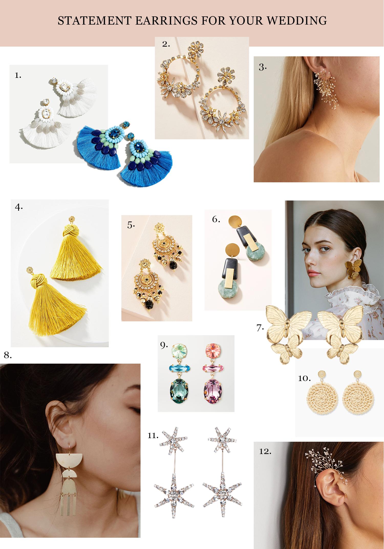 shop wedding statement earrings