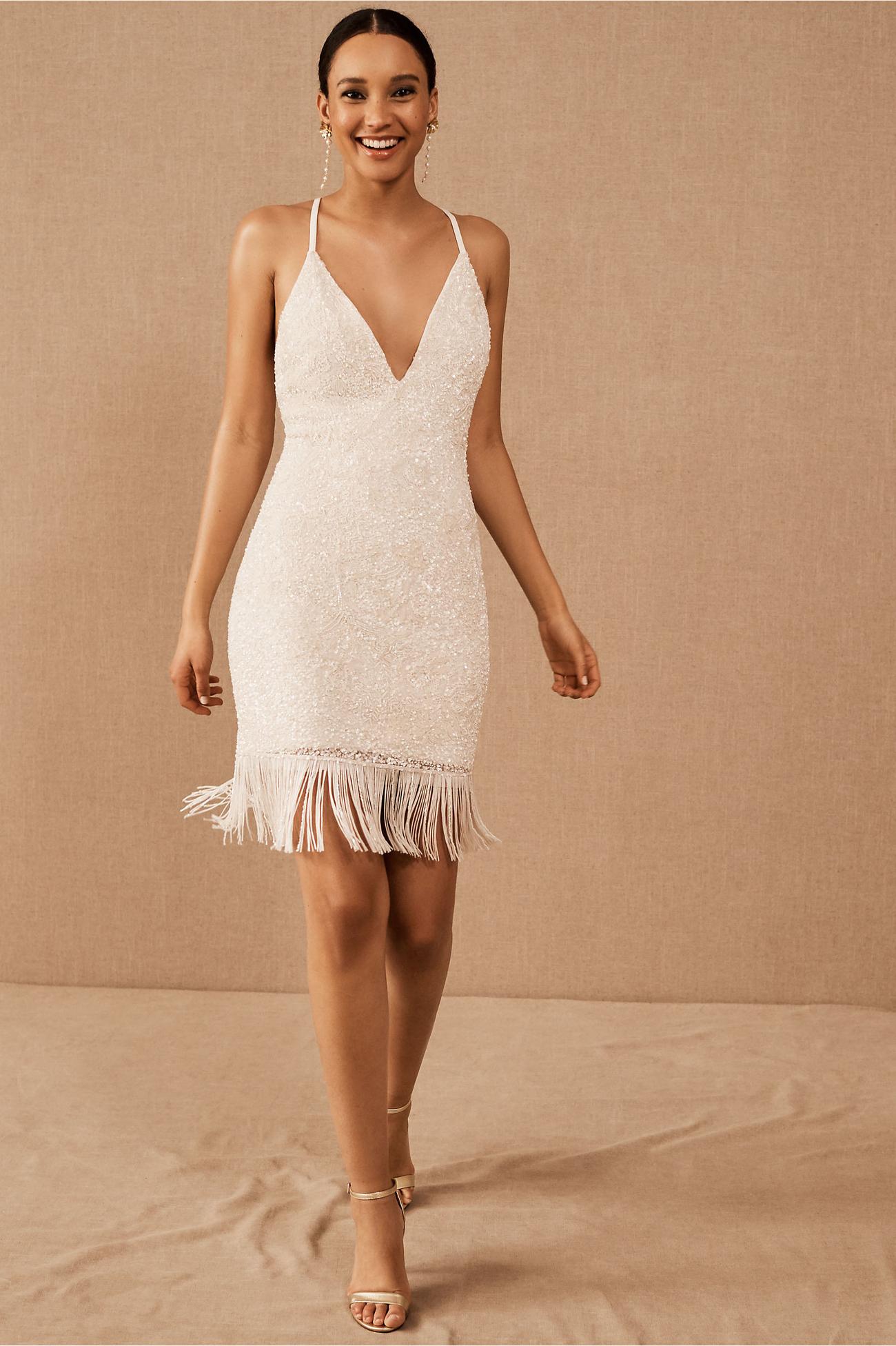 sparkle short wedding dress