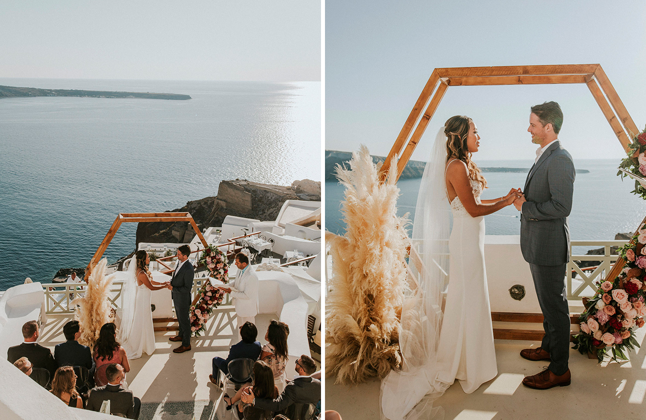 Mariage Boho Santorini
