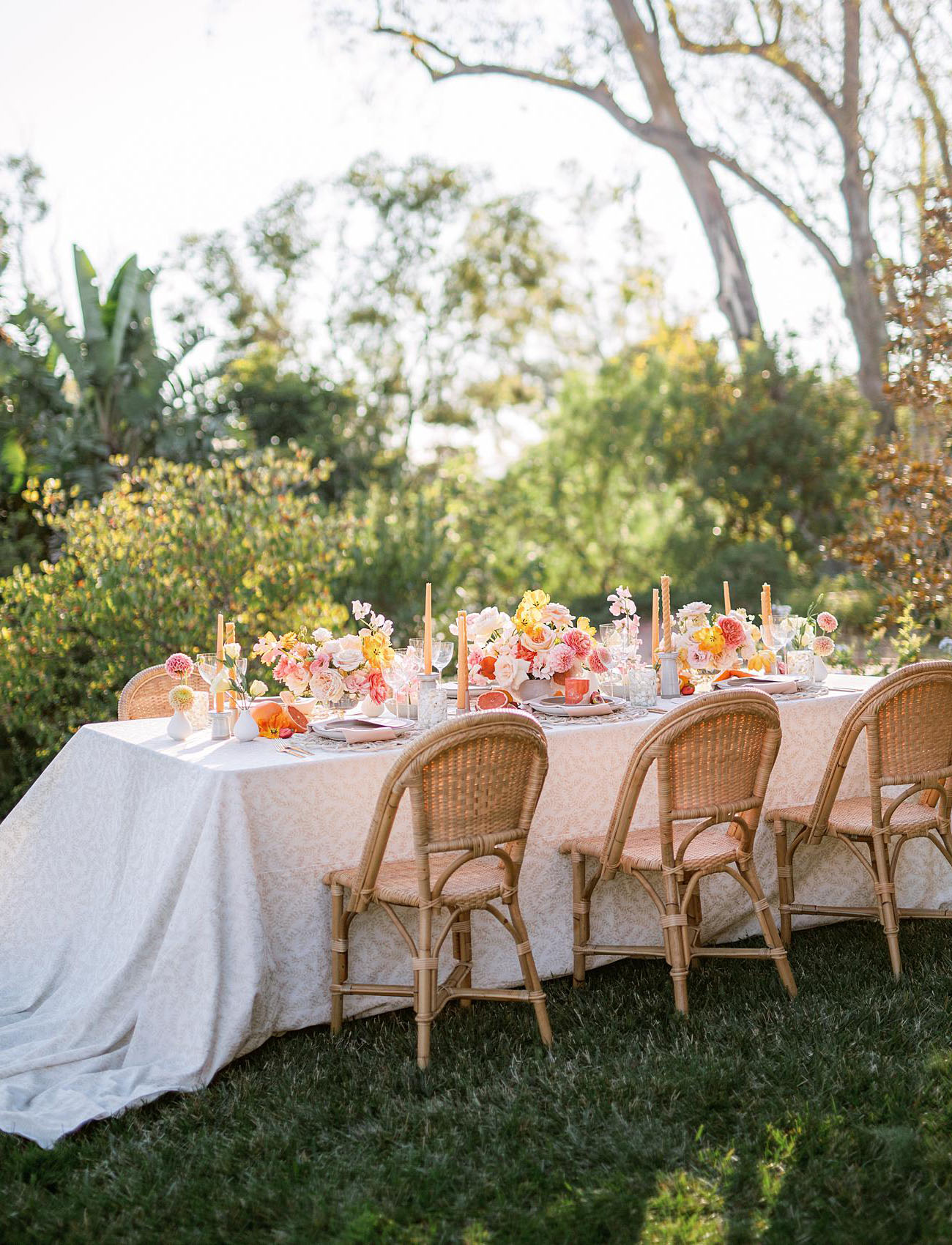 chic outdoor bridal shower