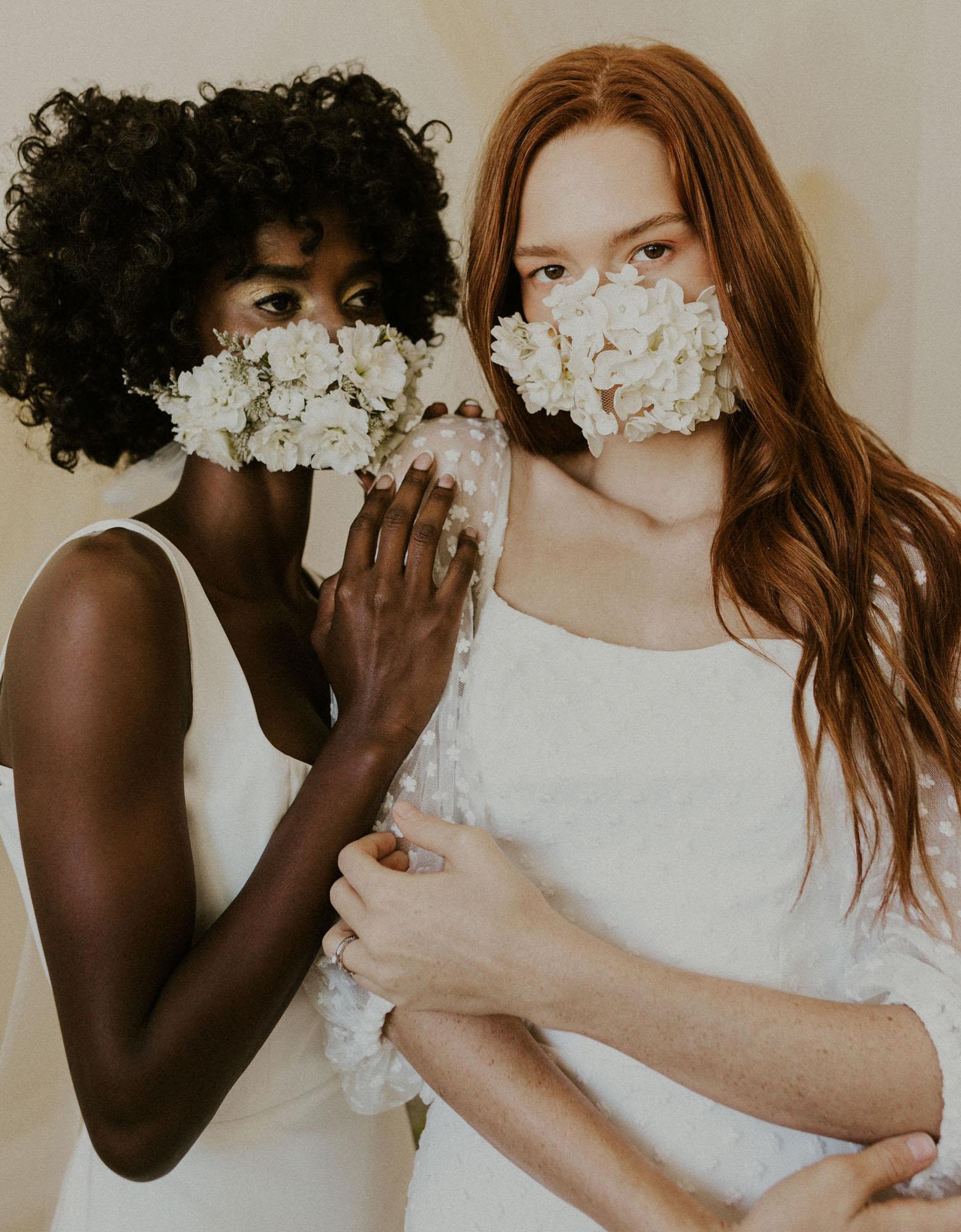 masque facial floral frais