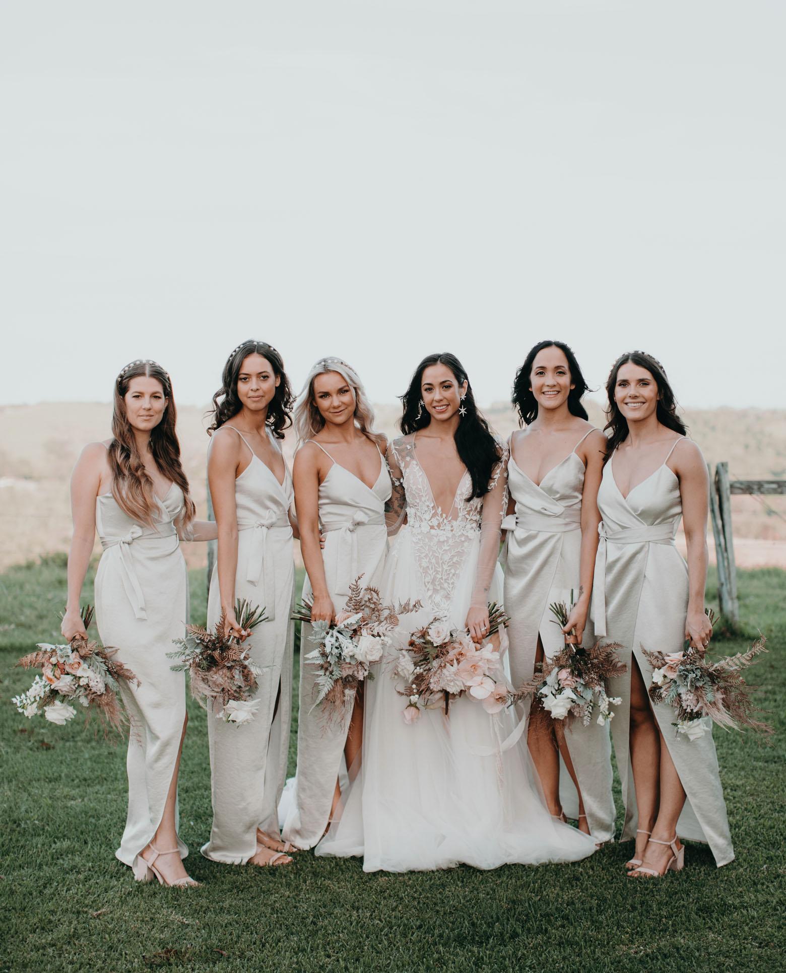 silk bridesmaids
