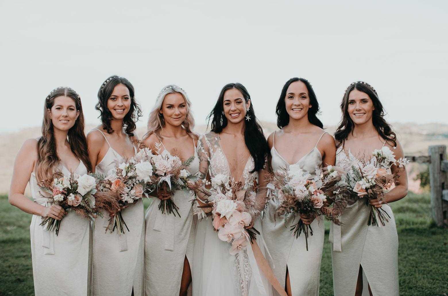 satin dress bridesmaids