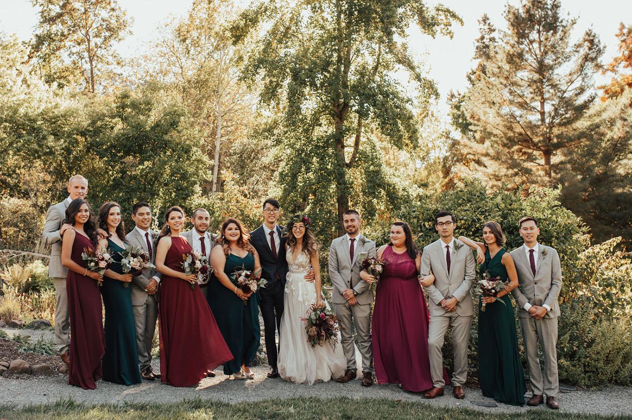 Mariage d'automne rustique