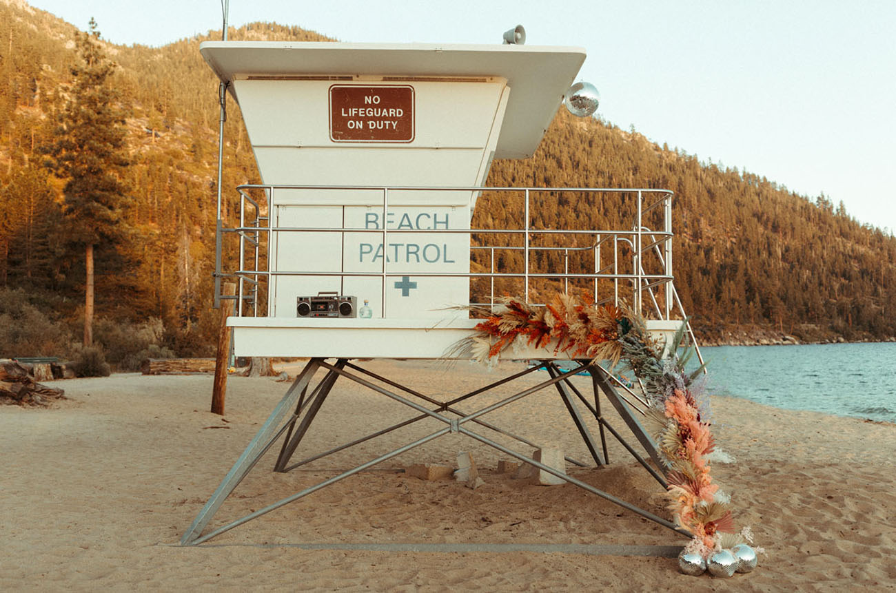 Disco Beach Wedding Inspiration