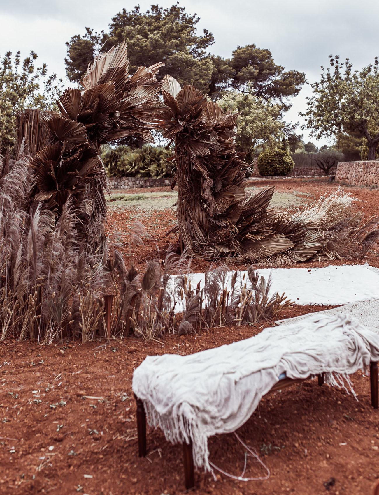 dried palm backdrop
