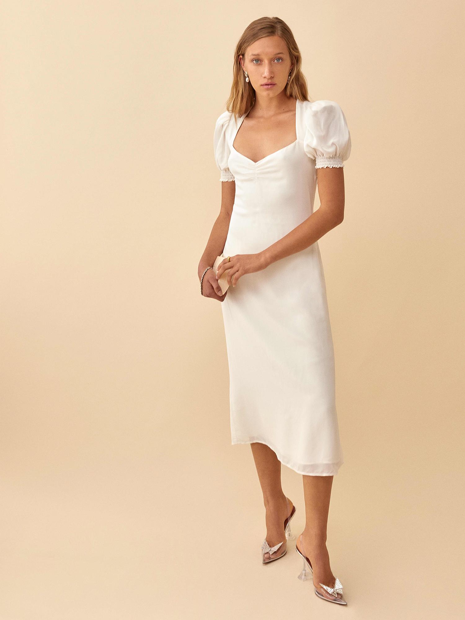 luciana reformation puff sleeve wedding dress