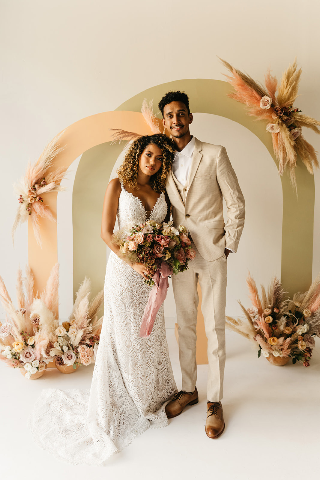 Micro Wedding Ceremony Backdrop