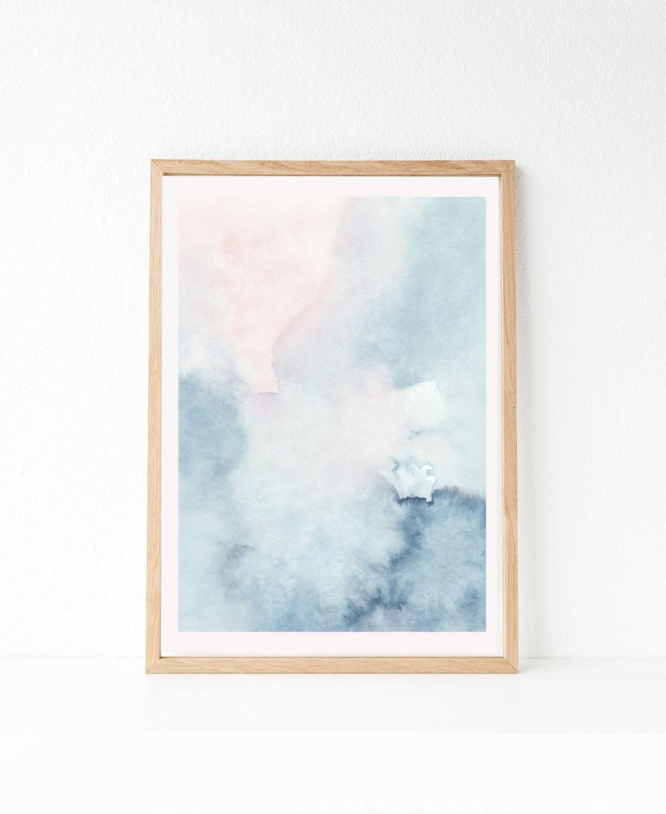 large watercolor printable art